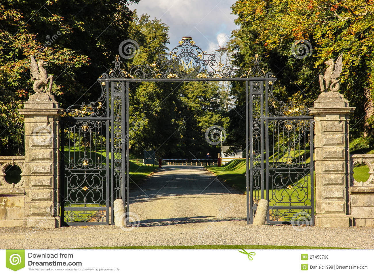 Kilruddery house gardens entrance ireland royalty free - Free garden plans ireland ...