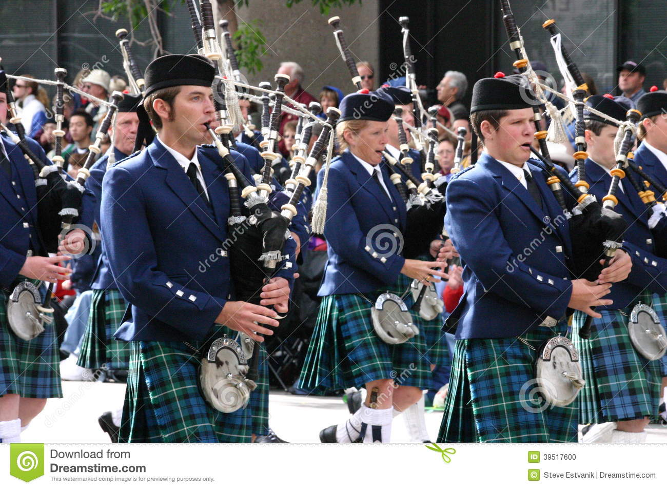 Kilted Bagpipe Players Editorial Image Image 39517600
