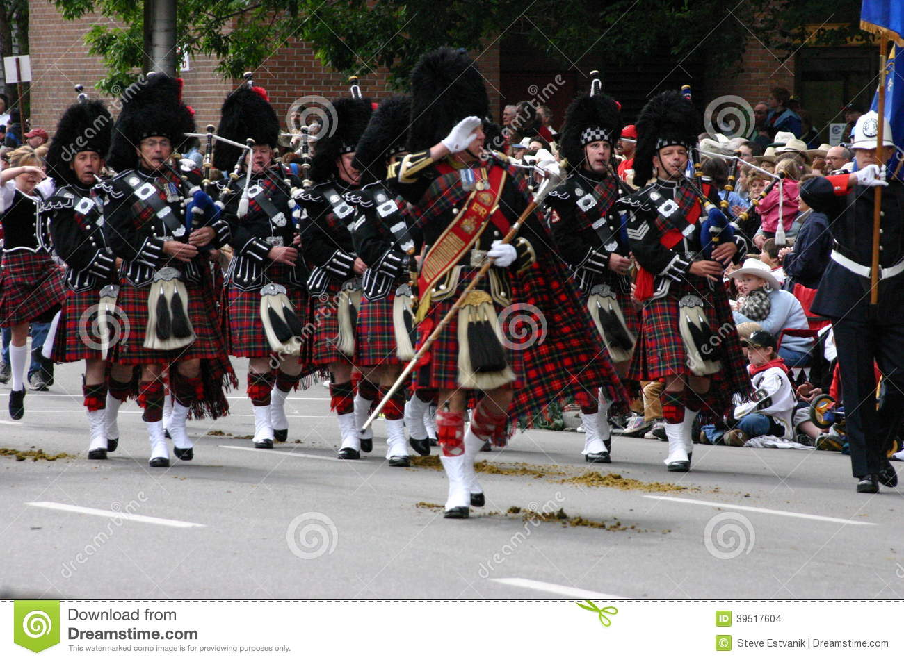Kilted Bagpipe Players Editorial Stock Image Image 39517604