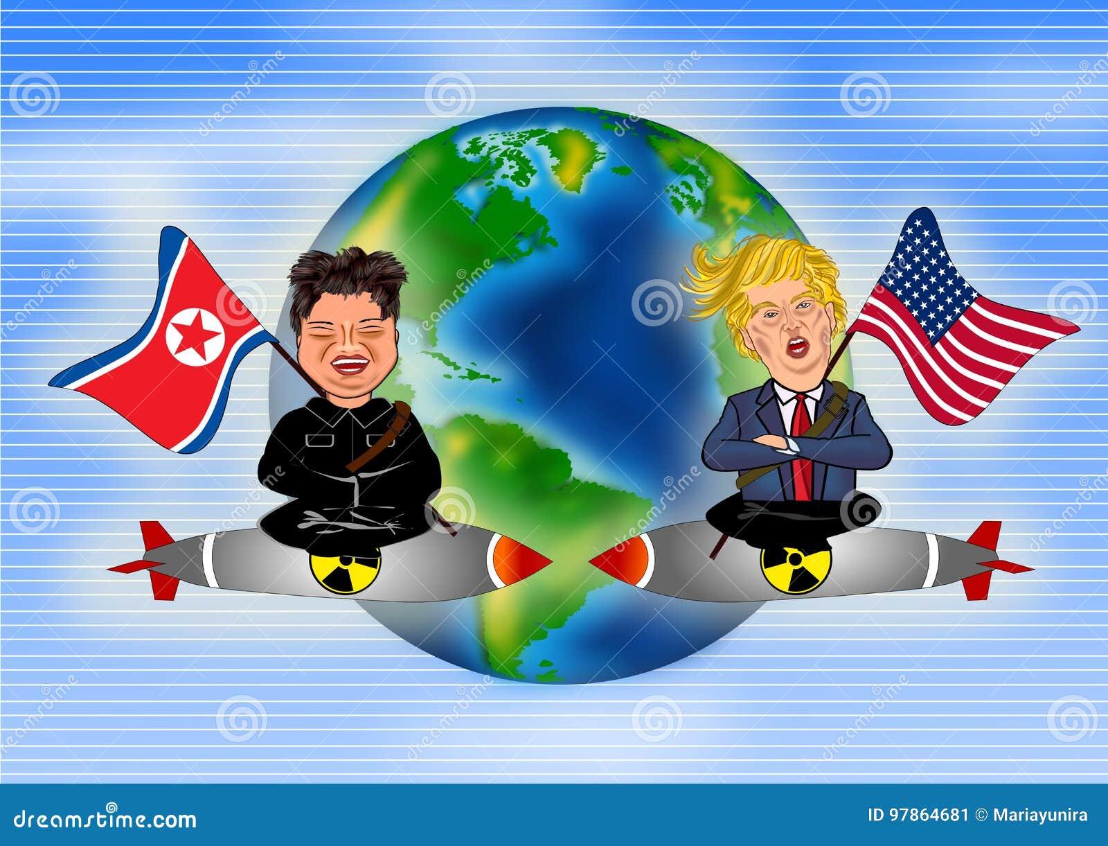 Kim Jong Un contra Donald Trump
