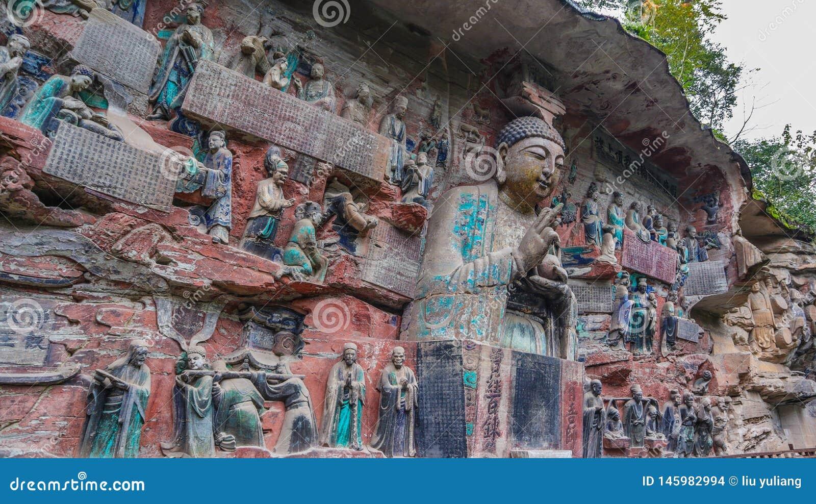 Kina Chongqing Dazu Rock Carvings,