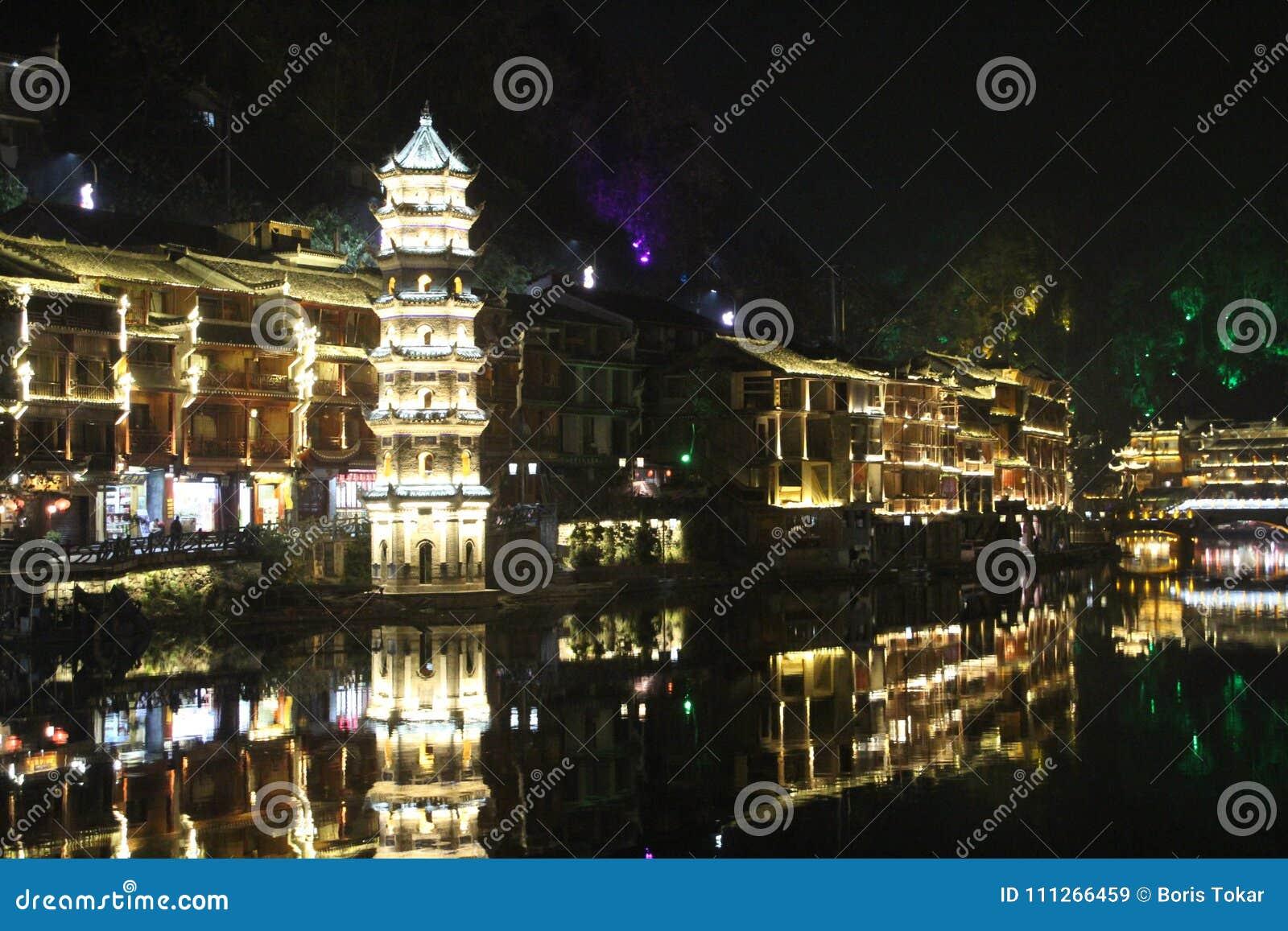 Kina Fenghuang gammal stad Fenix