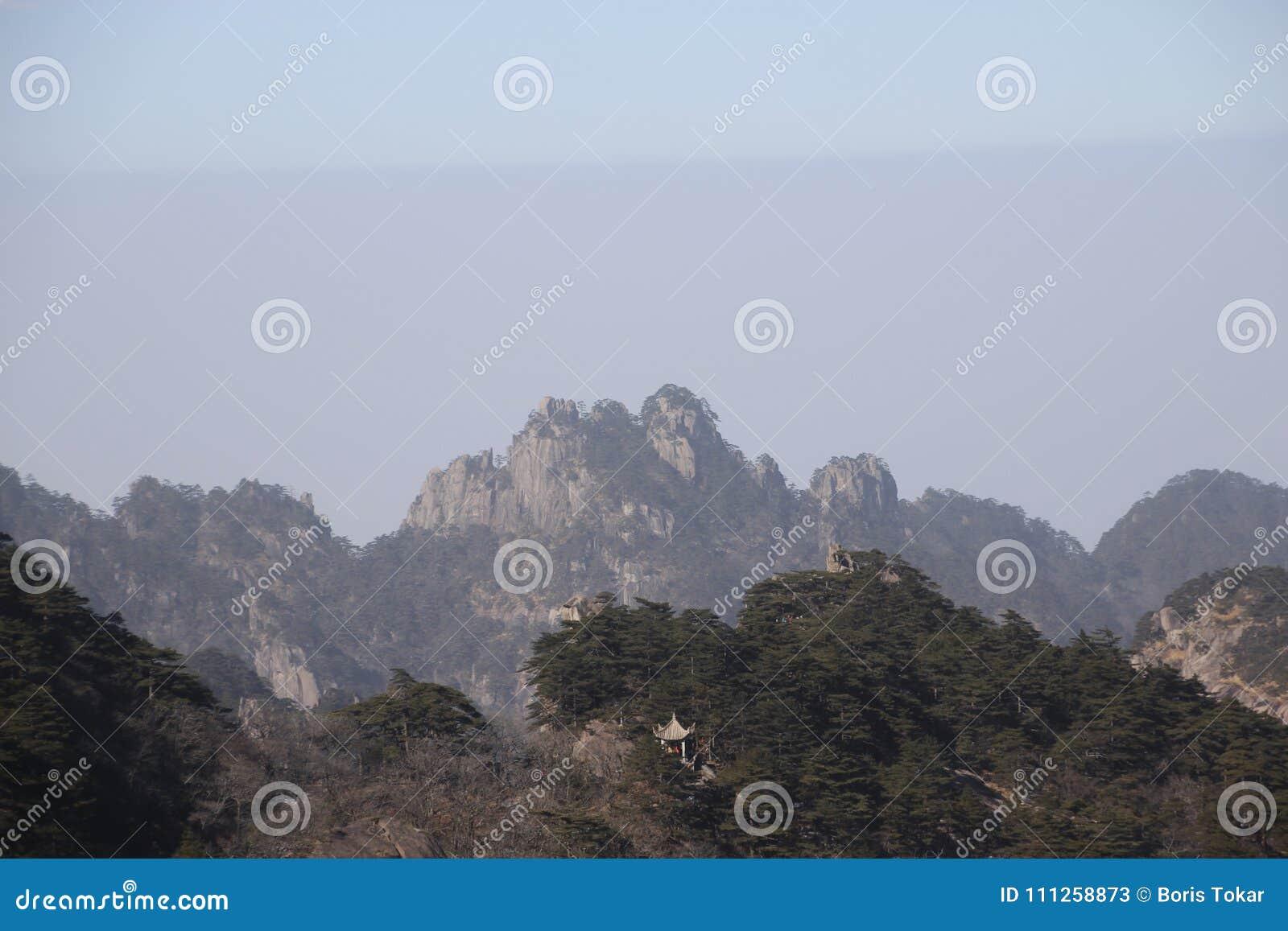 Kina Huangshan nationalpark