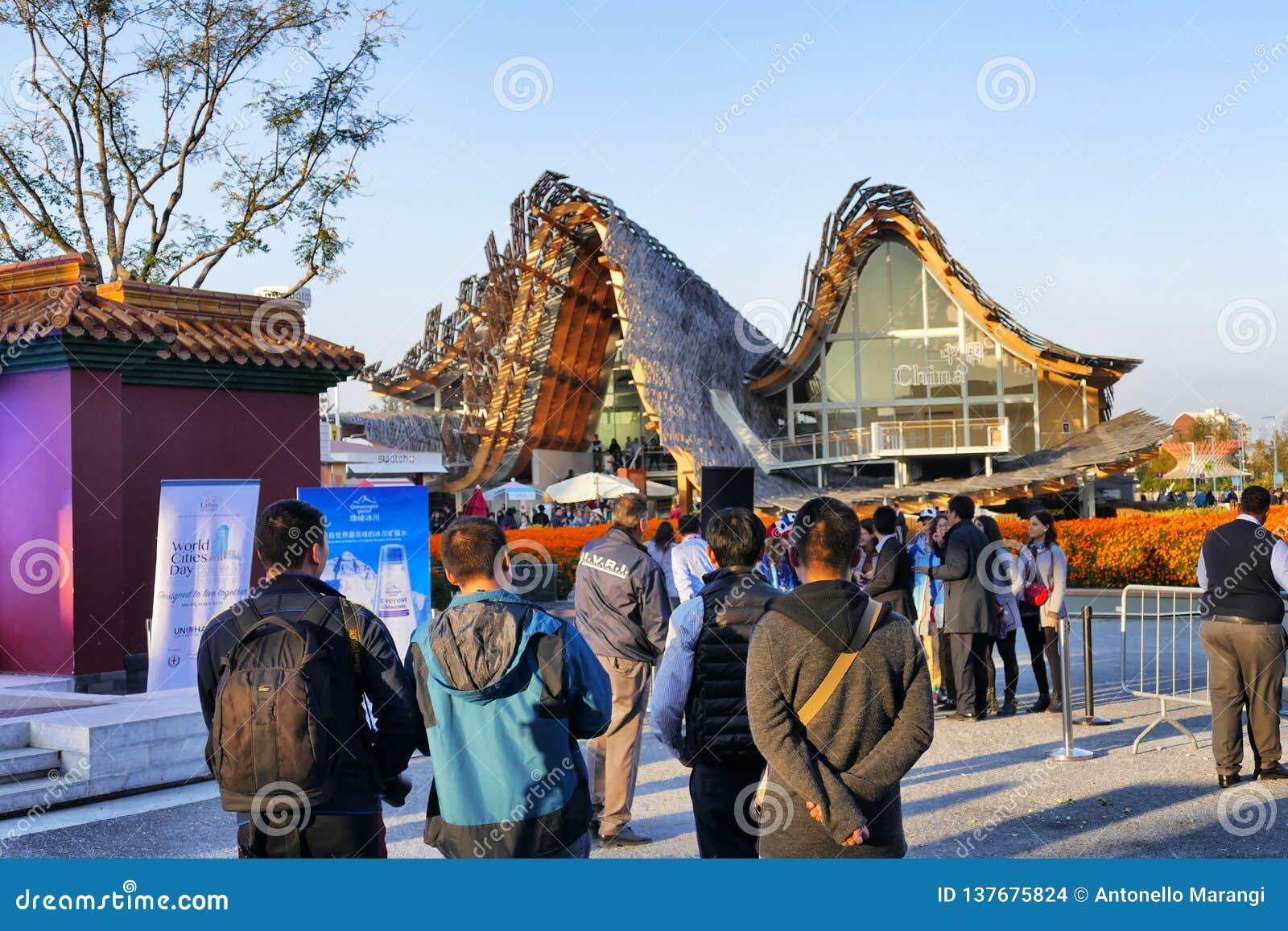 Kina pavillion på expon Milan 2015