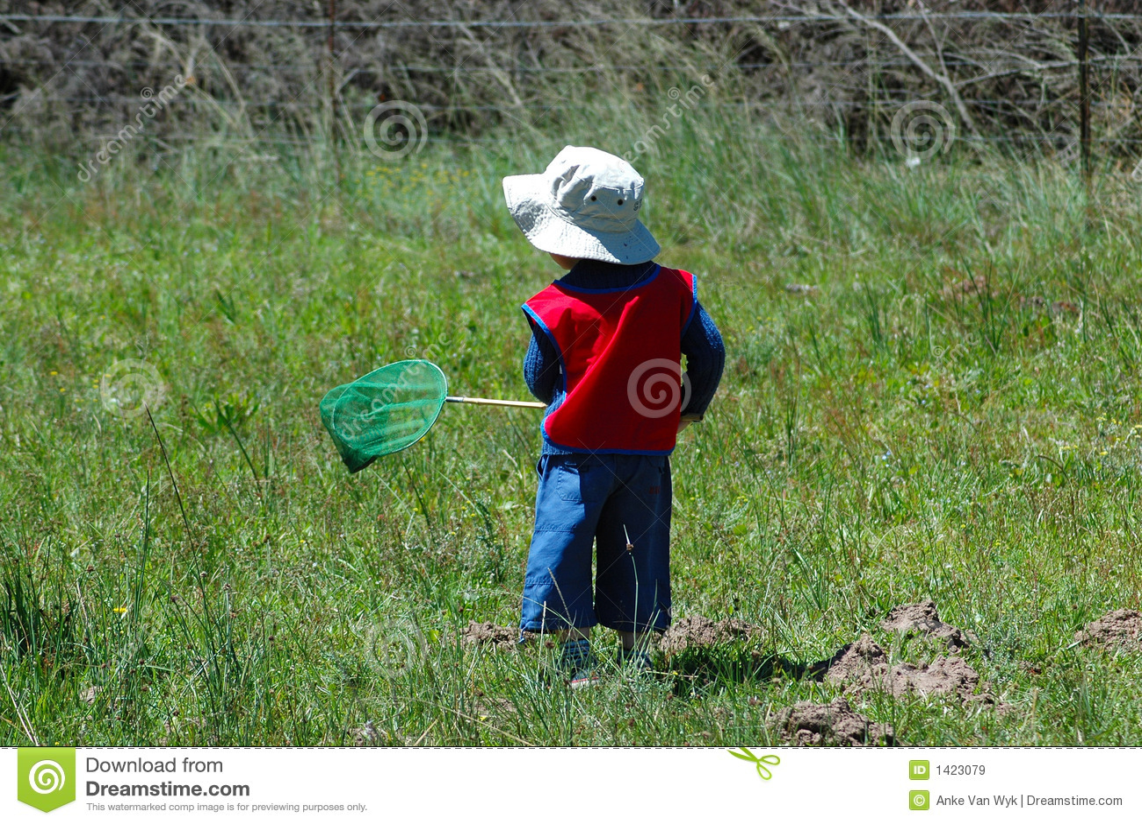 Kind dat vlinders vangt