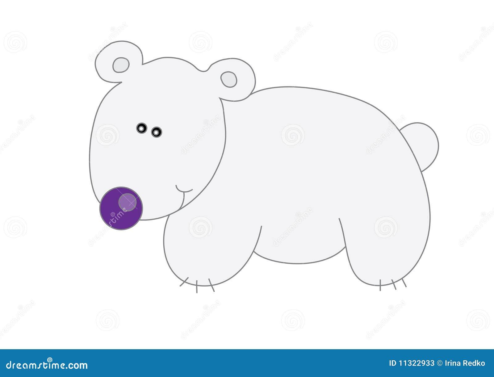 Kind des weißen Bären