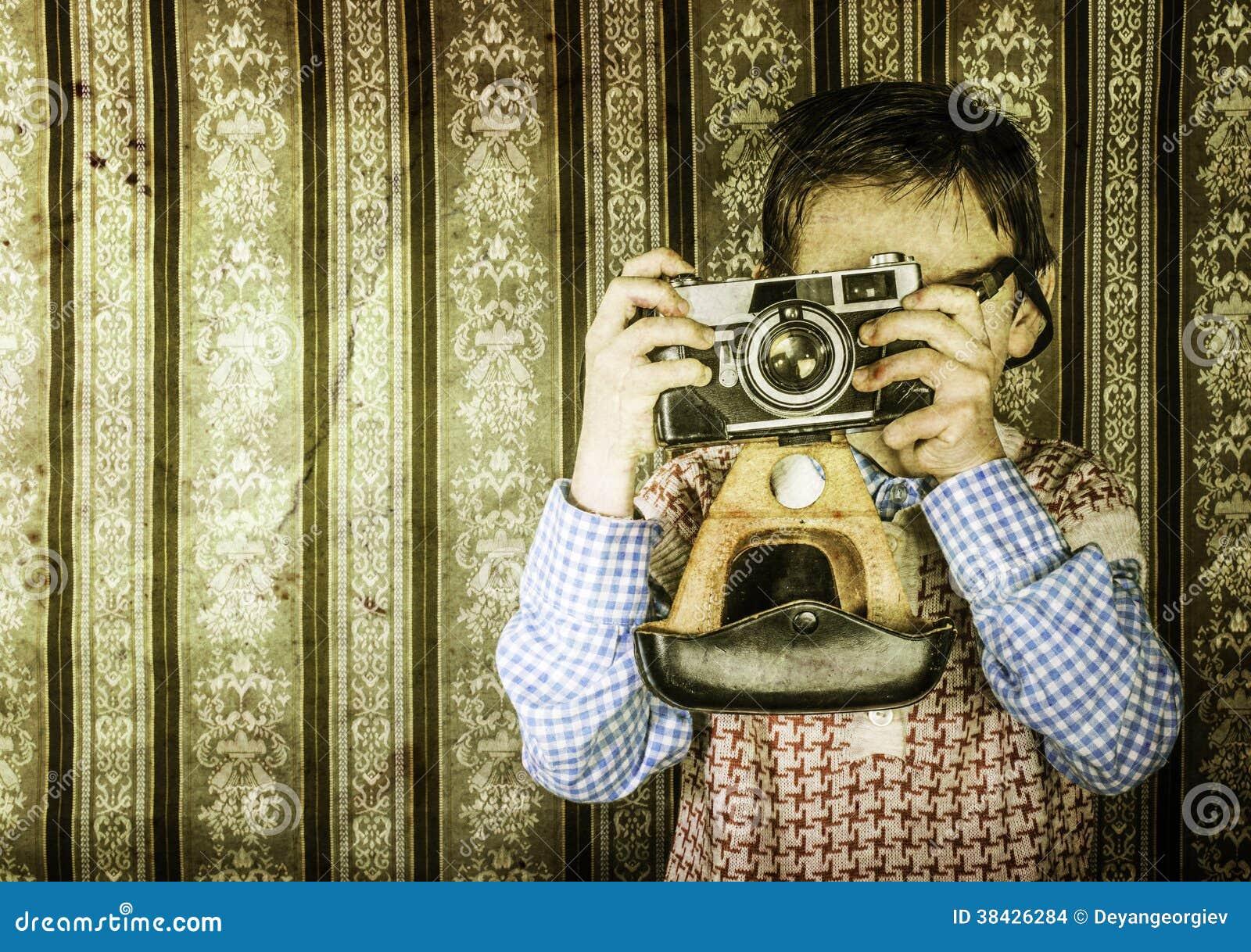Kind die beelden met uitstekende camera nemen