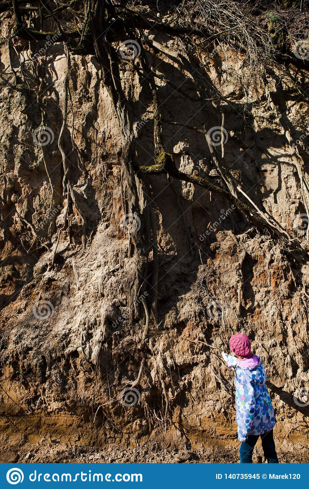 Kind die wortelsysteem controleren - gronderosie
