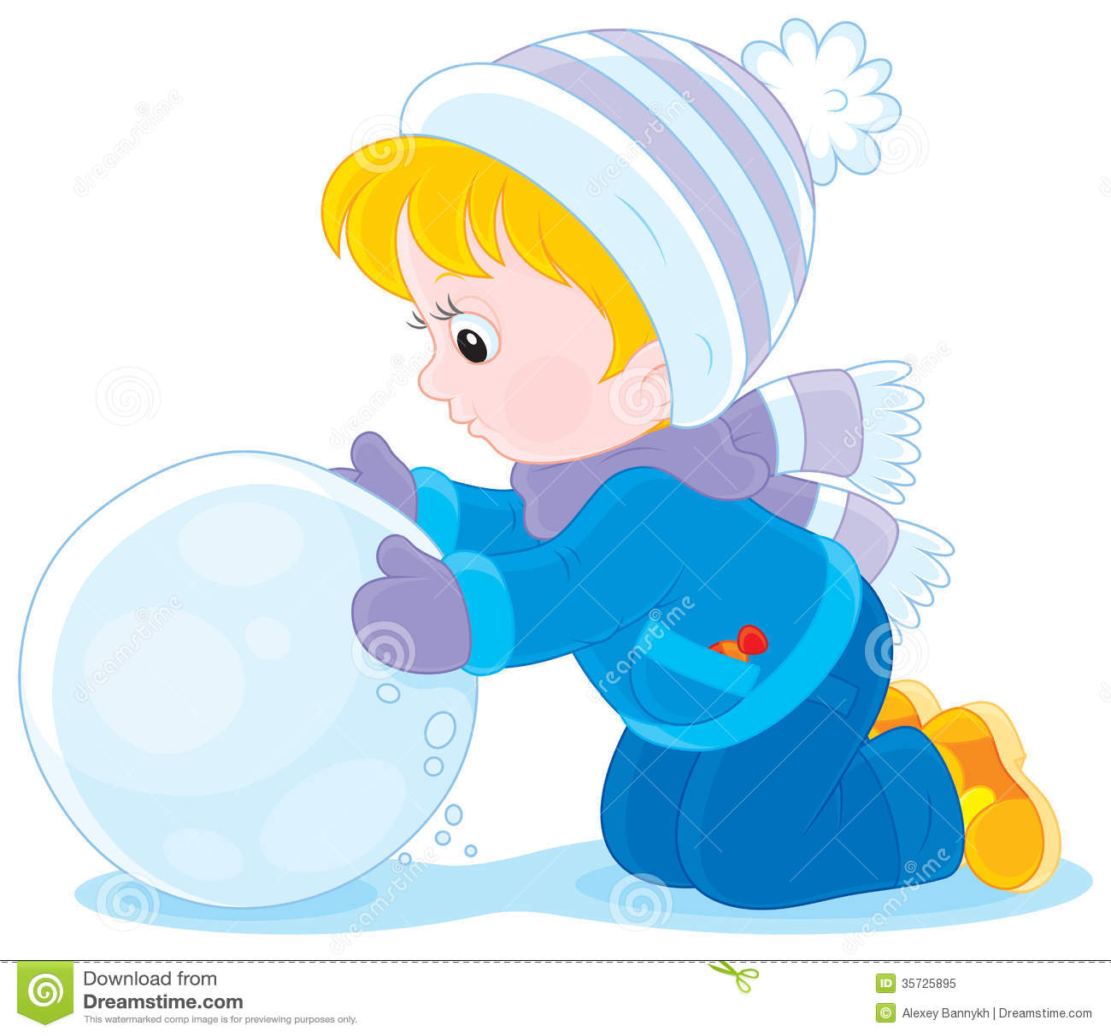 Kind met een sneeuwbal