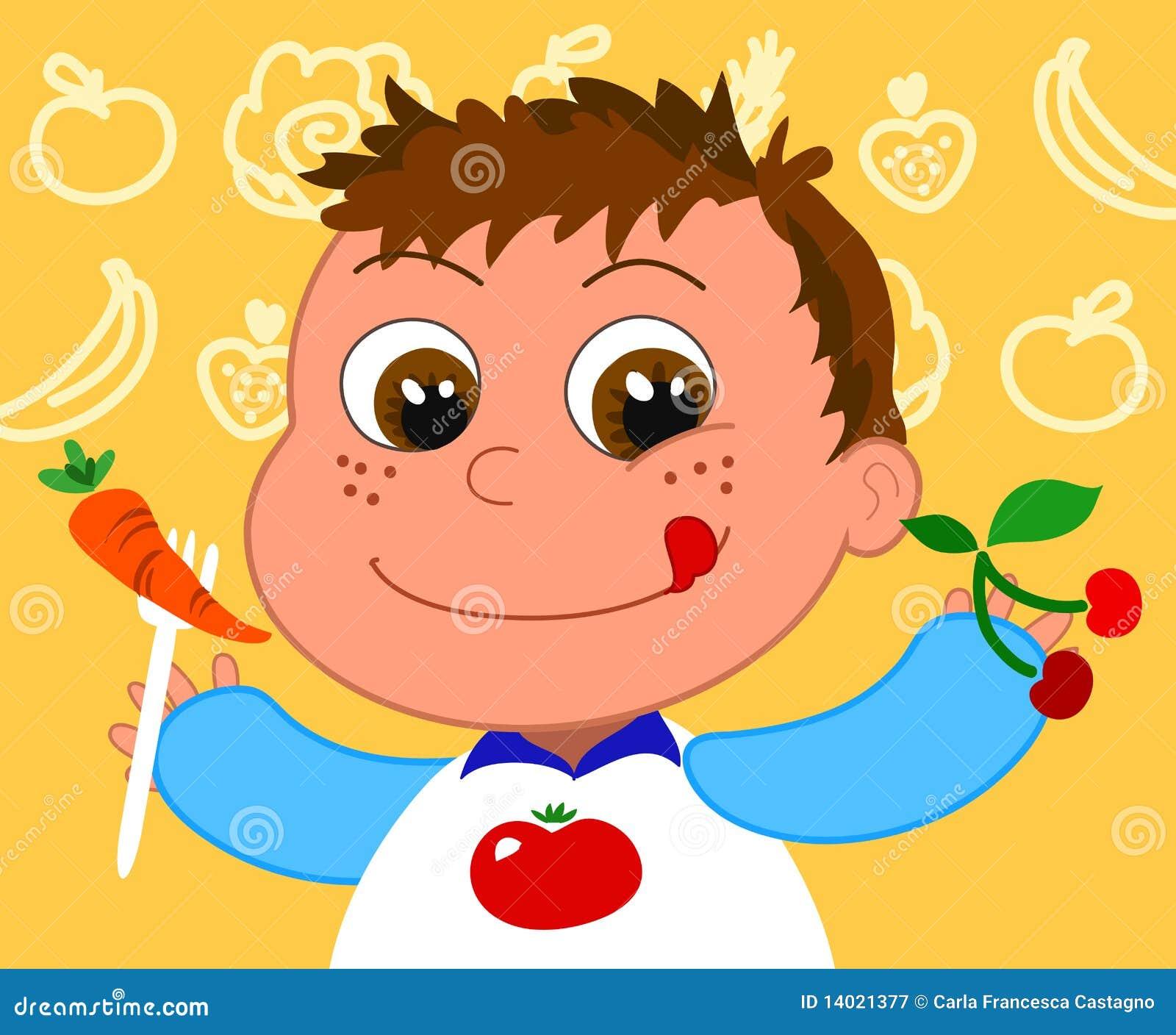 Kind met gezond voedsel