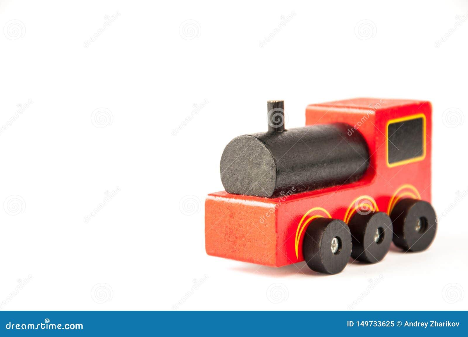 Kind-` s Spielzeug Roter hölzerner Zug