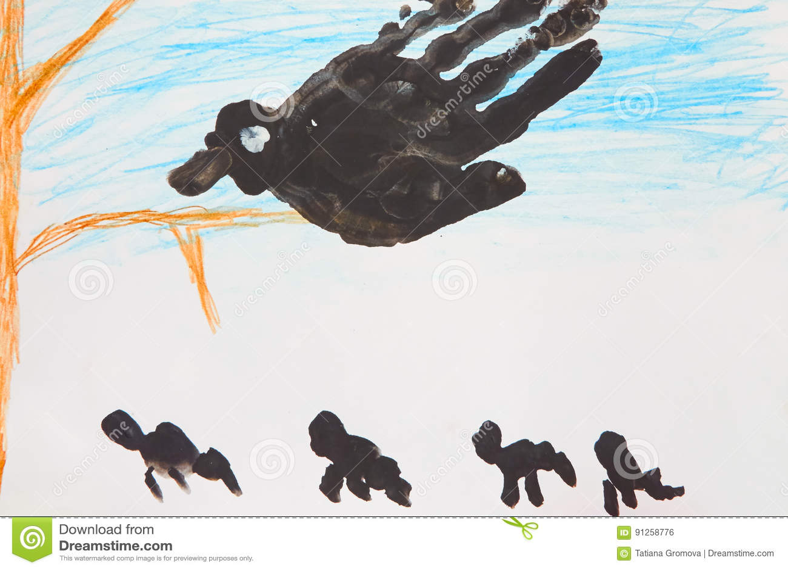 grote zwarte s