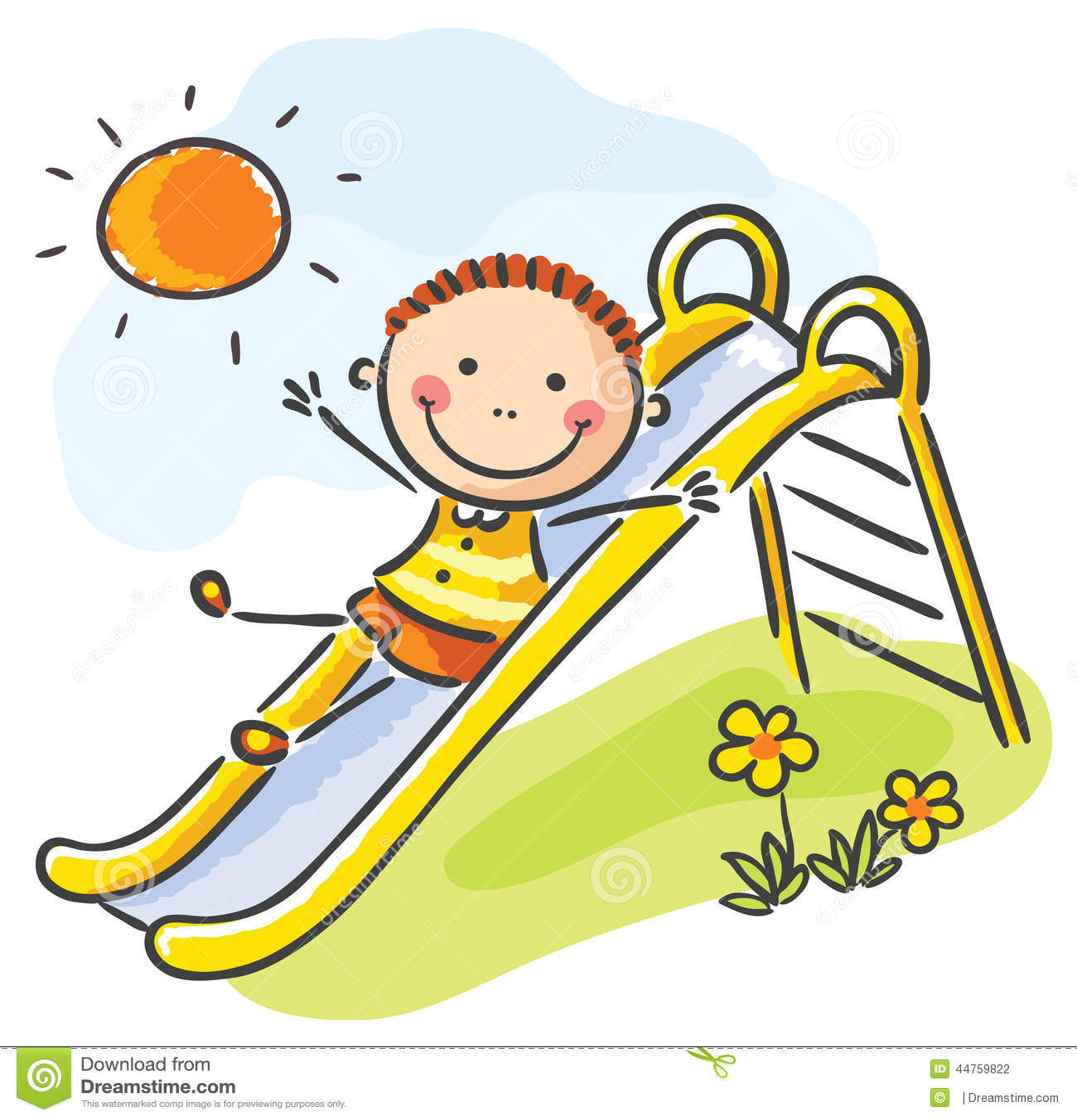 Kind Am Spielplatz Vektor Abbildung - Bild: 44759822