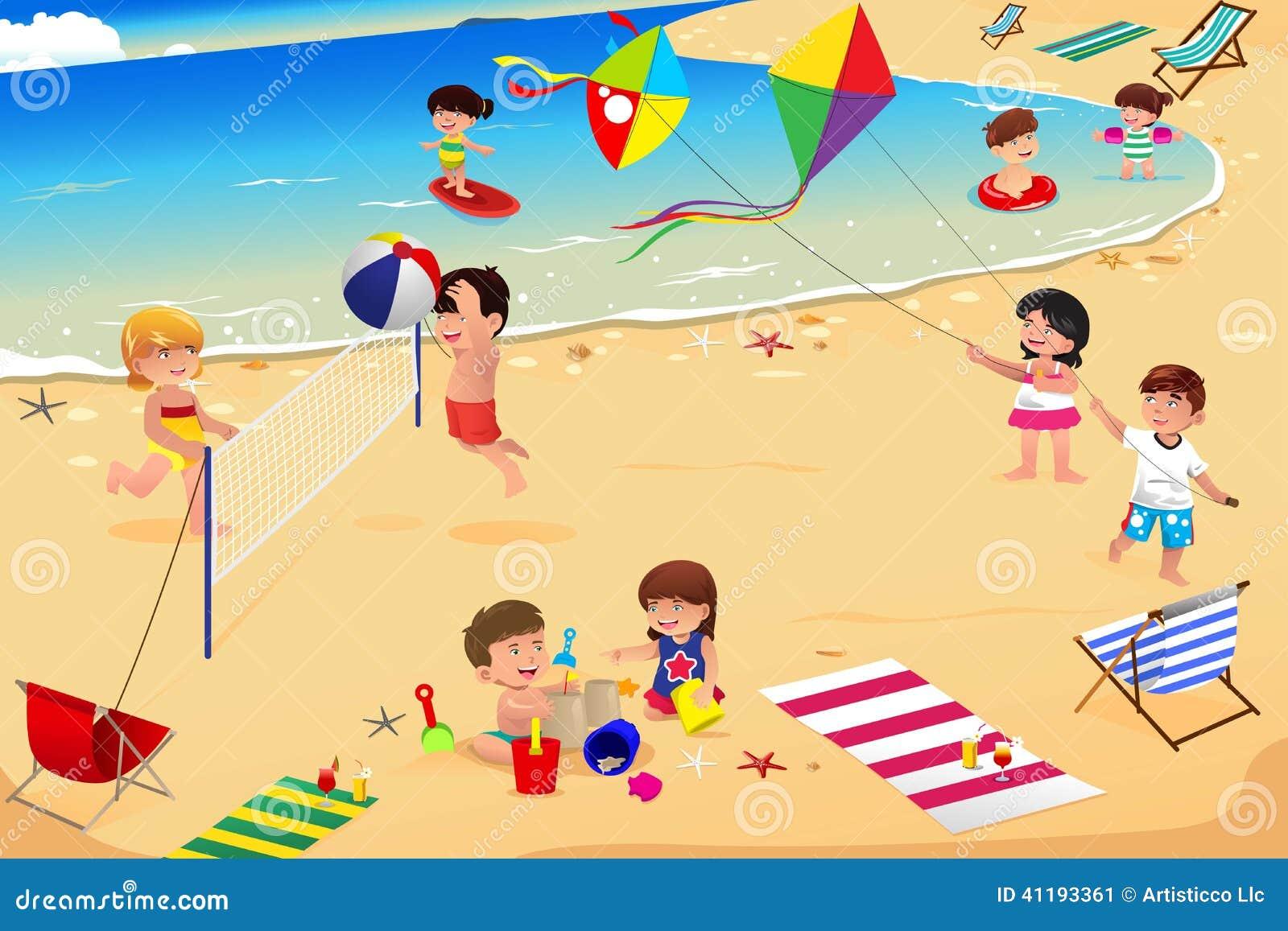 Kinder auf dem Strand