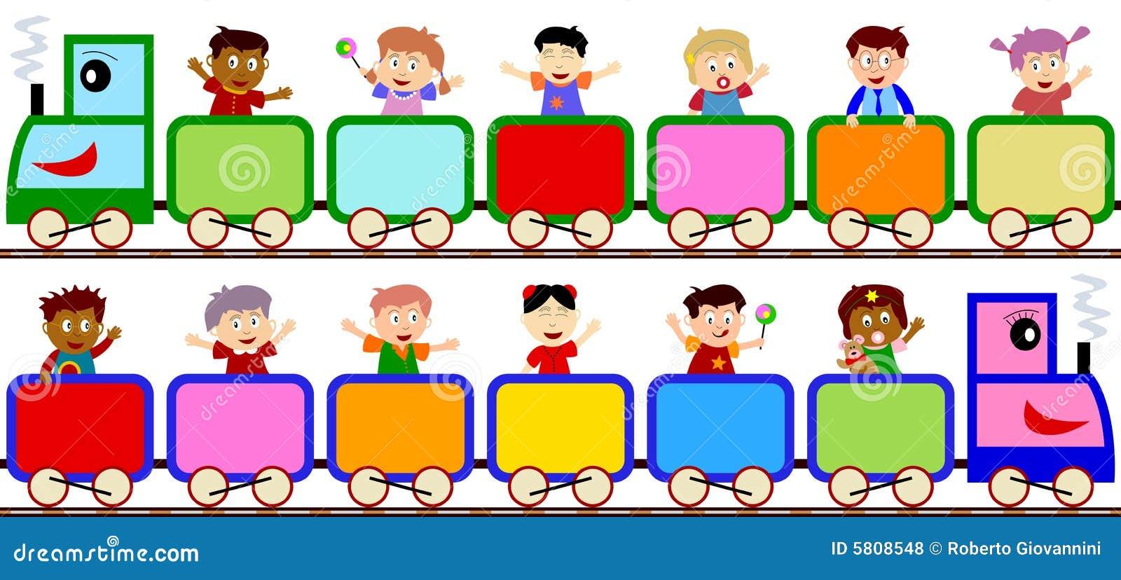 Kinder auf Serien-Fahnen