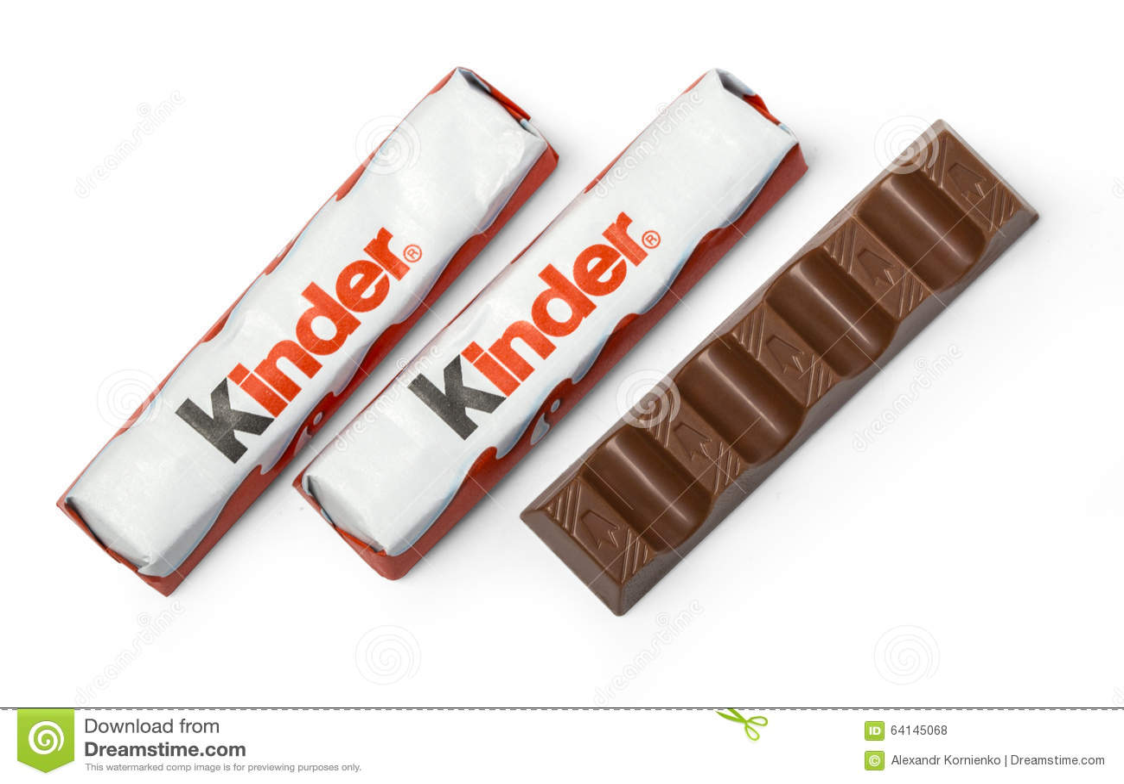Kinder Chocolate Bars Editorial Stock Photo - Image: 64145068