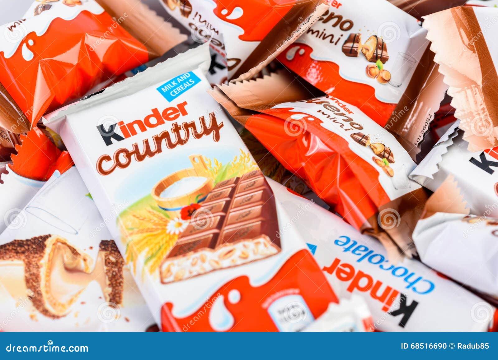 Kinder Chocolate Editorial Photo - Image: 68516686