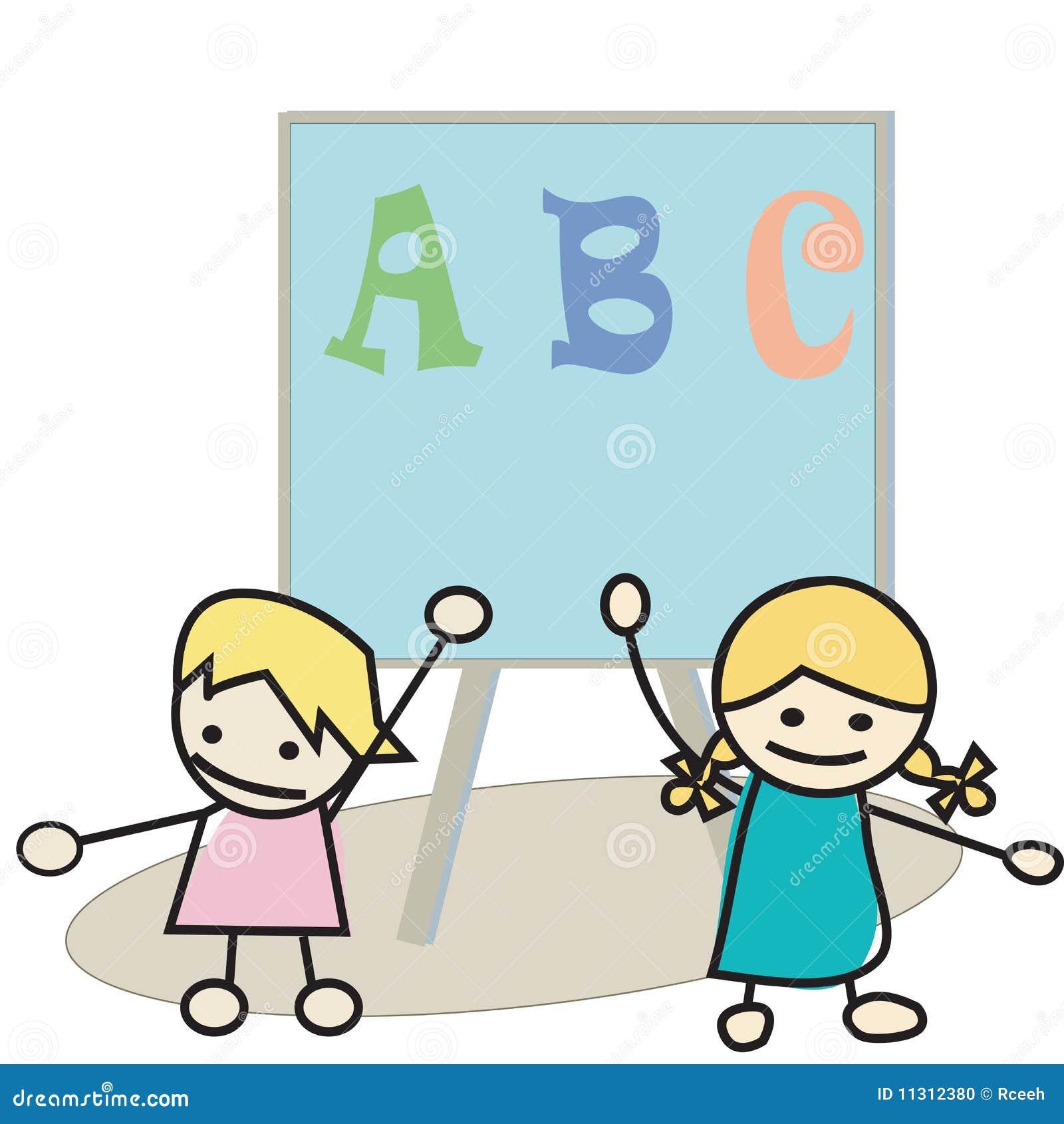 Kinder, die Alphabet erlernen