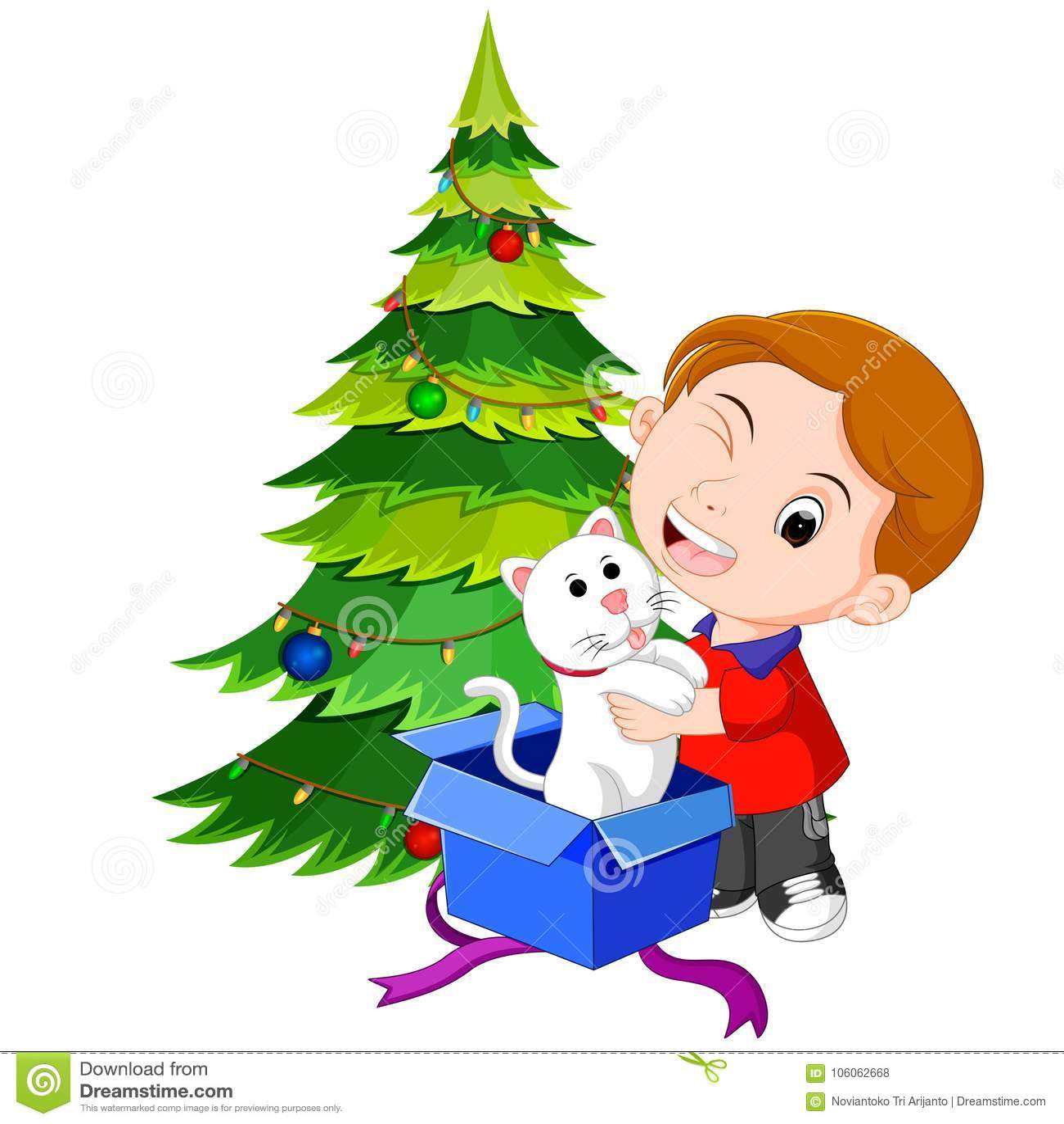 Kinder, Die Geschenke Für Weihnachten Erhalten Vektor Abbildung ...