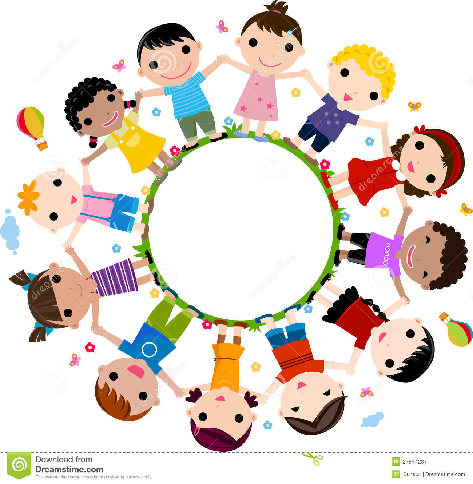 Kinder sitzen im kreis clipart  Kinder, Die Händen Sich Anschließen, Um Einen Kreis Zu Bilden ...