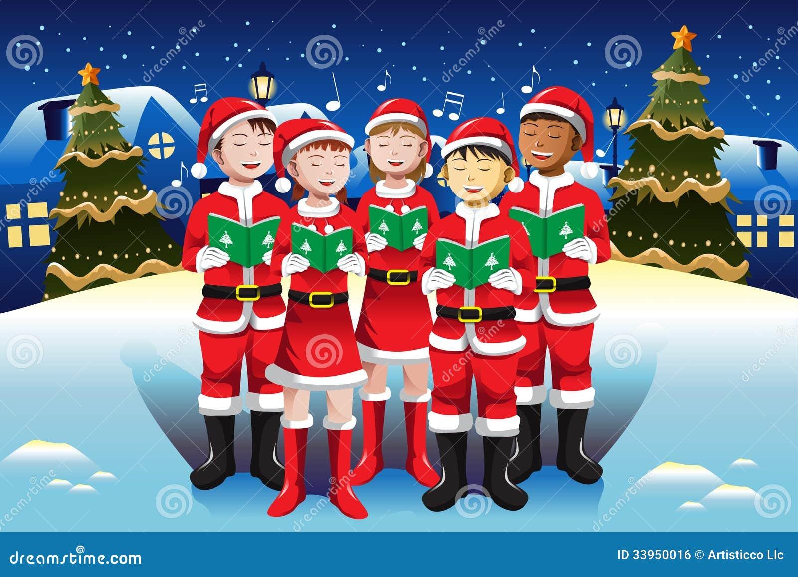 kinder die im weihnachtschor singen lizenzfreies. Black Bedroom Furniture Sets. Home Design Ideas
