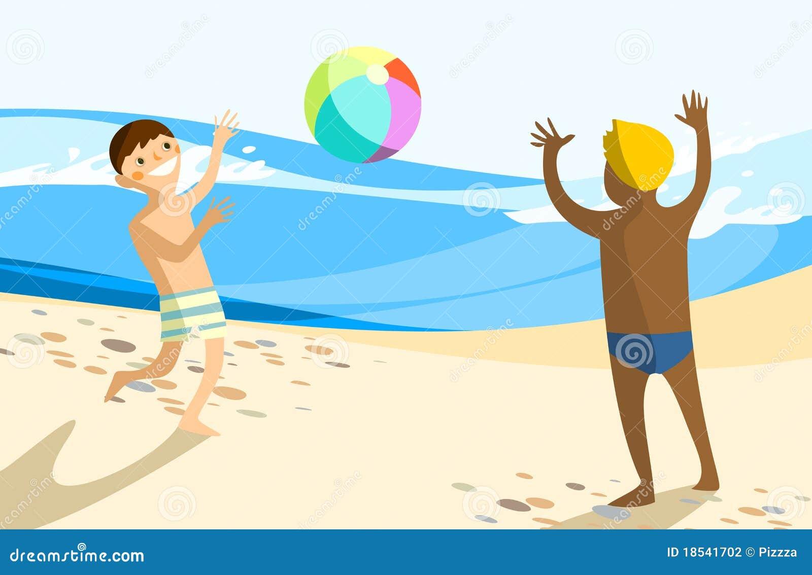 Cartoon Kids Sand Play