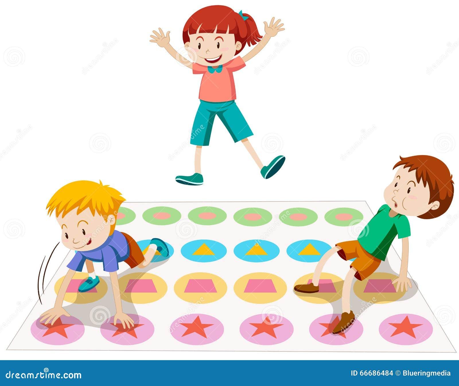 Twister Spiel Kinder