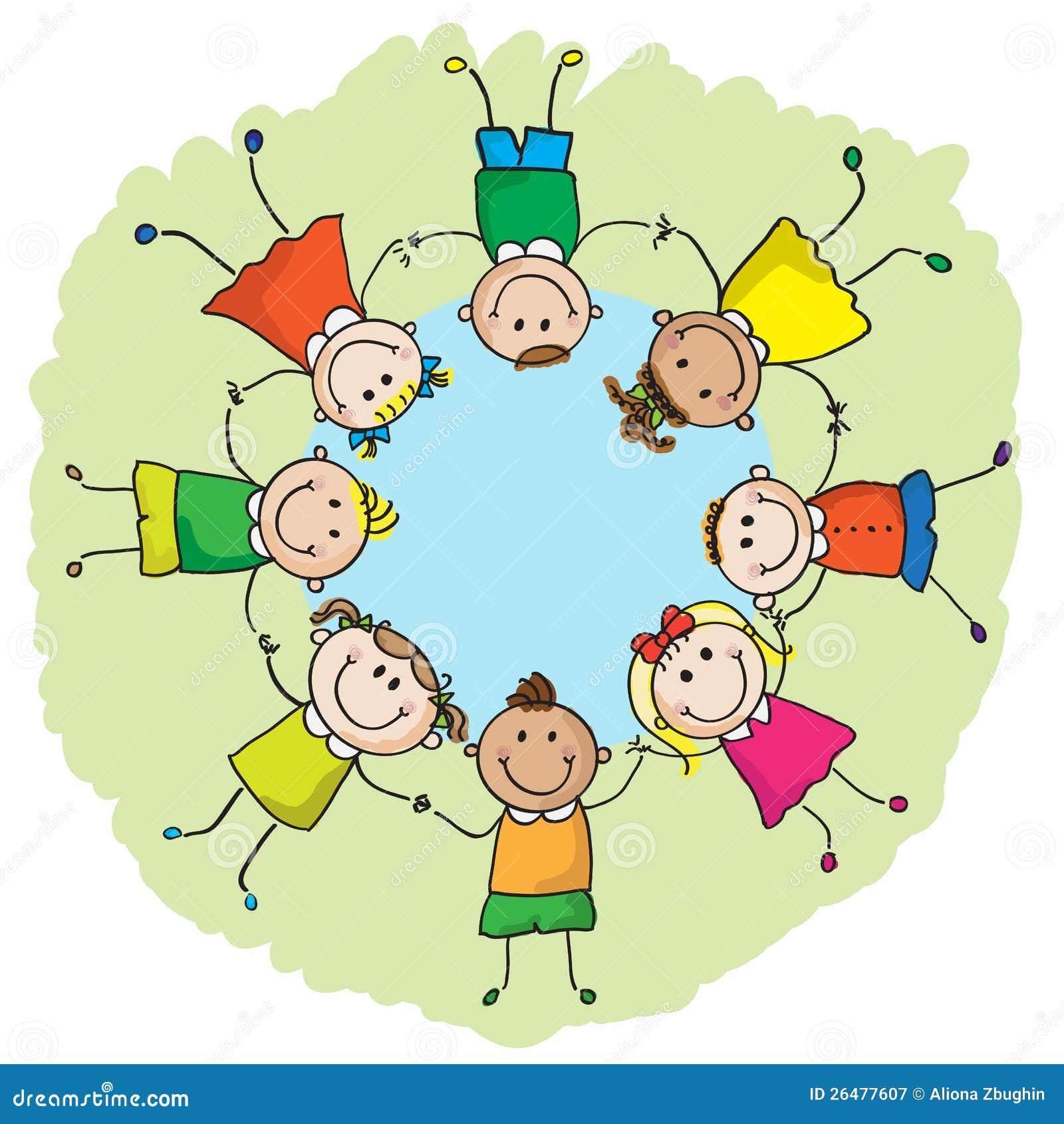 Kinder sitzen im kreis clipart  Kinder In Einem Kreis Lizenzfreie Stockfotografie - Bild: 26477607