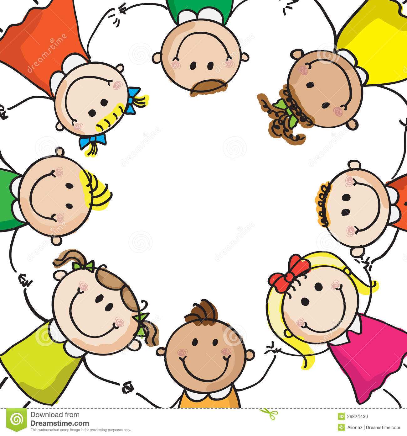Kinderkreis clipart  Kinder In Einem Kreis Stockfoto - Bild: 26824430