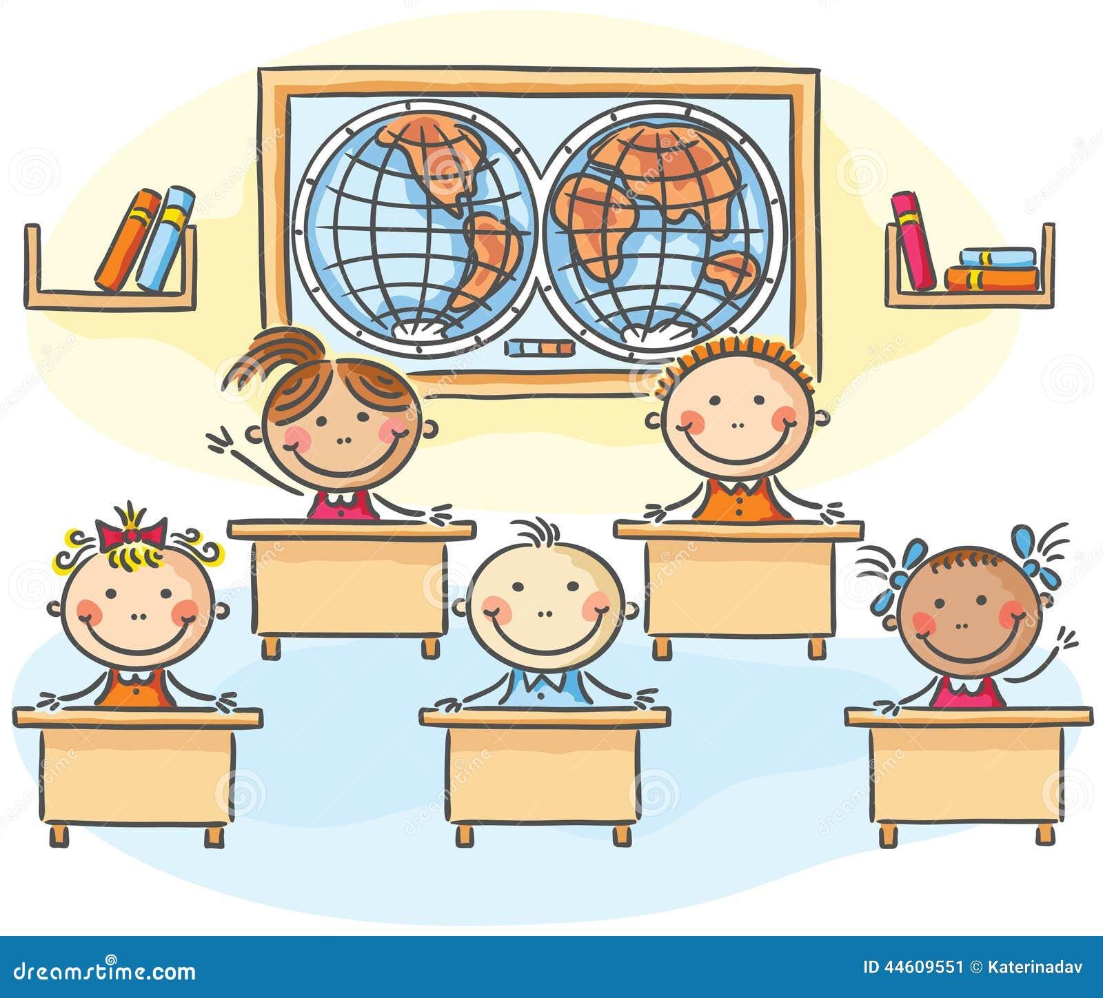 Kinder Im Klassenzimmer Vektor Abbildung Bild 44609551