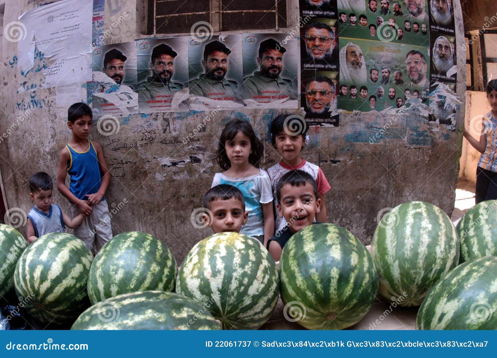 Kinder im palästinensischen Lager