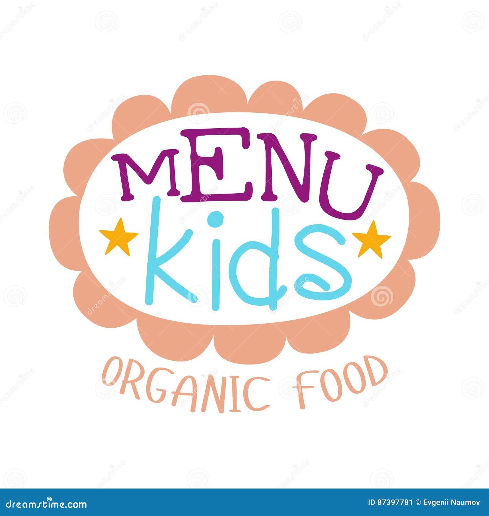 Kinder Lebensmittel, Café-spezielles Menü Für Kindbunte Promo ...
