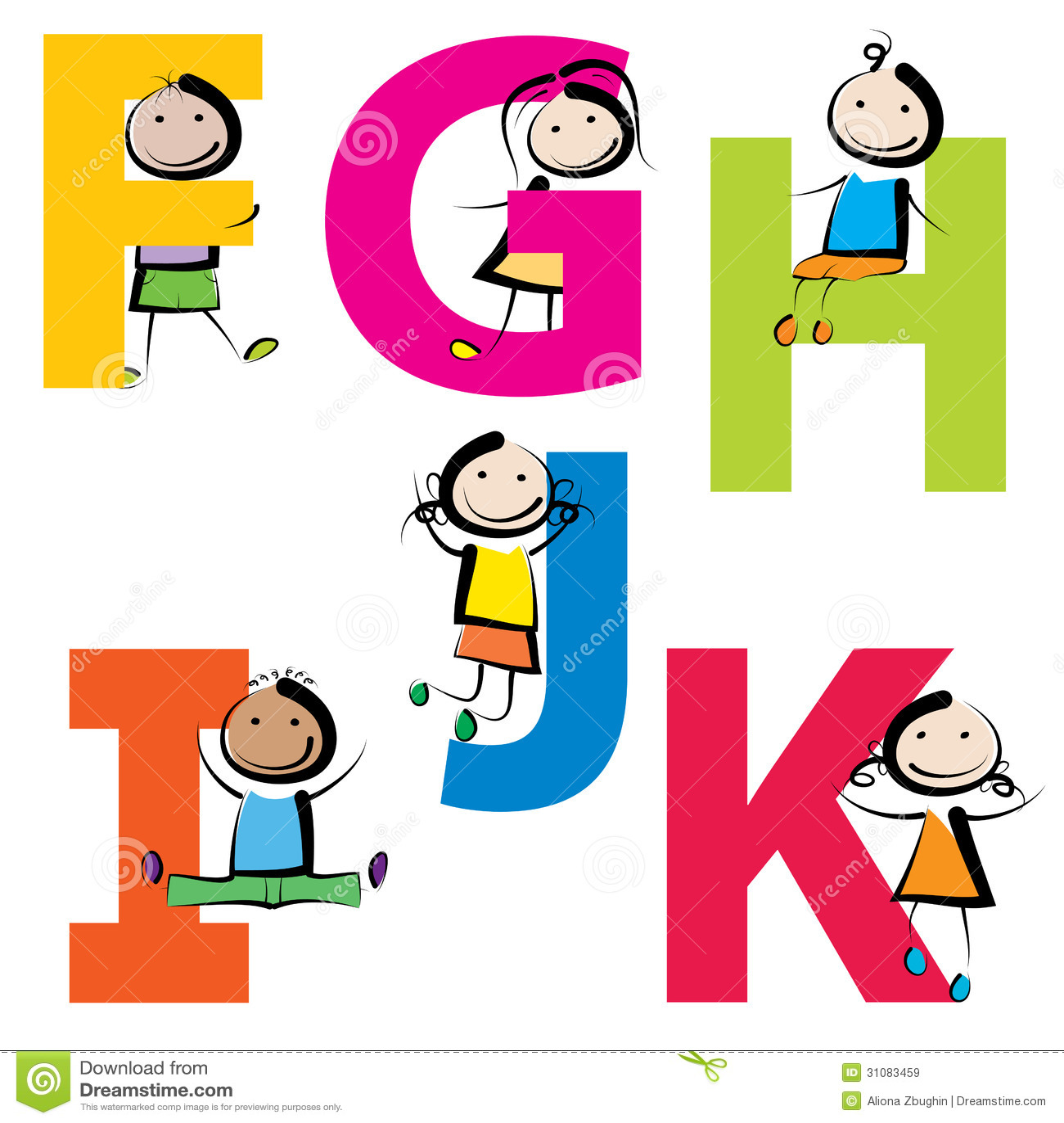 6 Letter Cartoon Characters : Kinder mit buchstaben fk lizenzfreie stockbilder bild