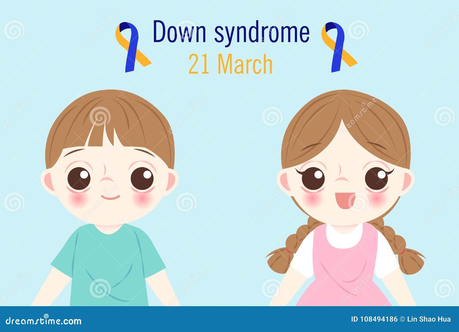 Kinder mit Down-Syndrom Konzept