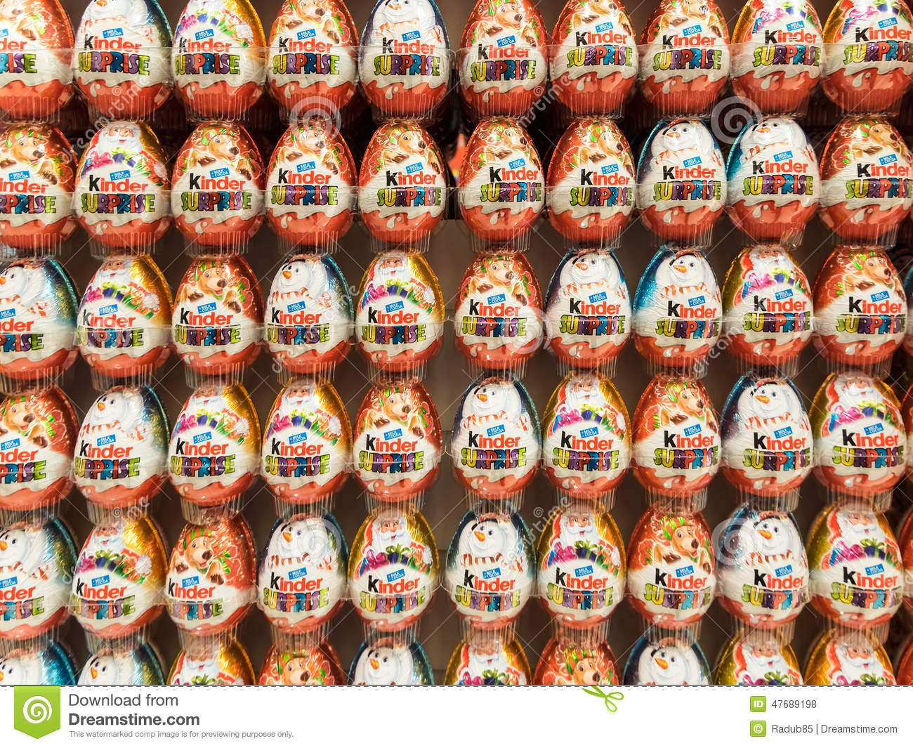 Kinder Surprise Chocolate Eggs Editorial Stock Photo