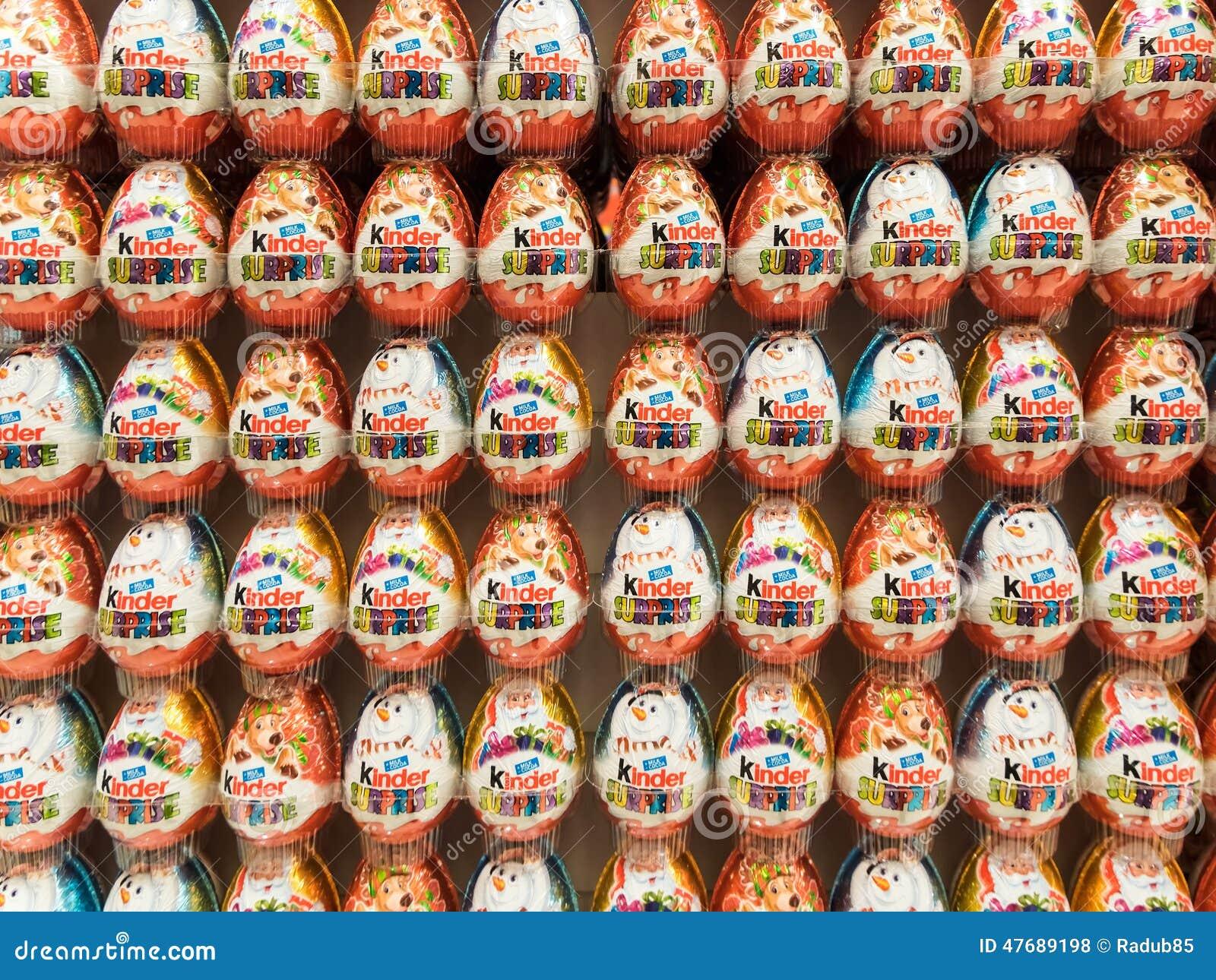 Kinder Surprise Chocolate Eggs Editorial Stock Photo - Image: 47689198