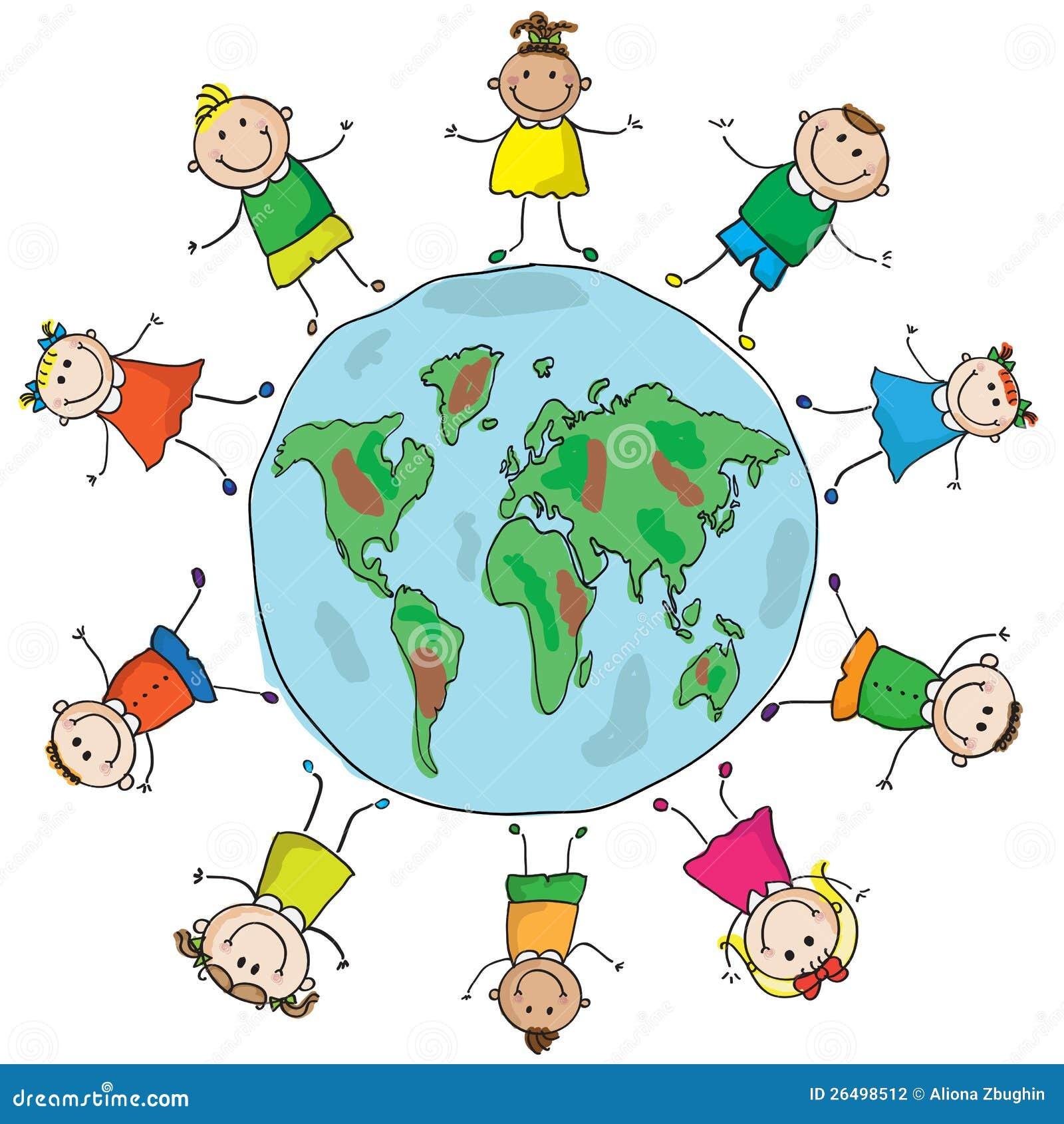 Kinder und Planet