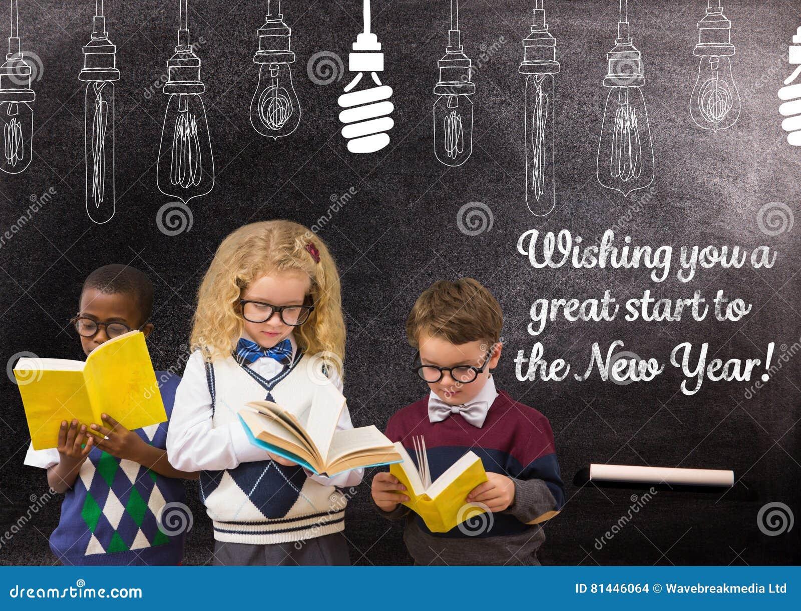Citaten Uit Nederlandse Boeken : Kinderen die boeken lezen tegen bord met citaten van de het
