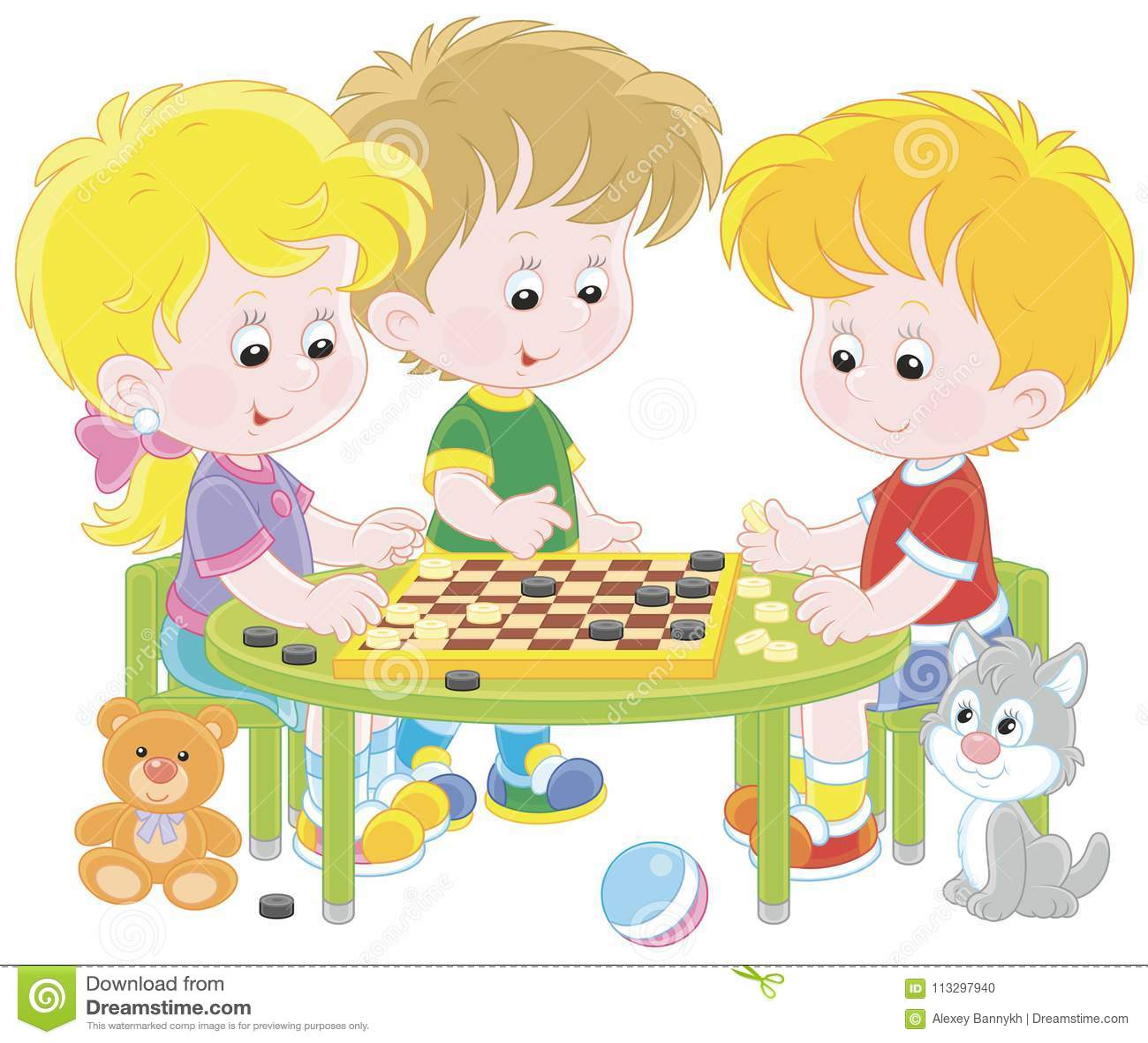 Kinderen die Controleurs spelen