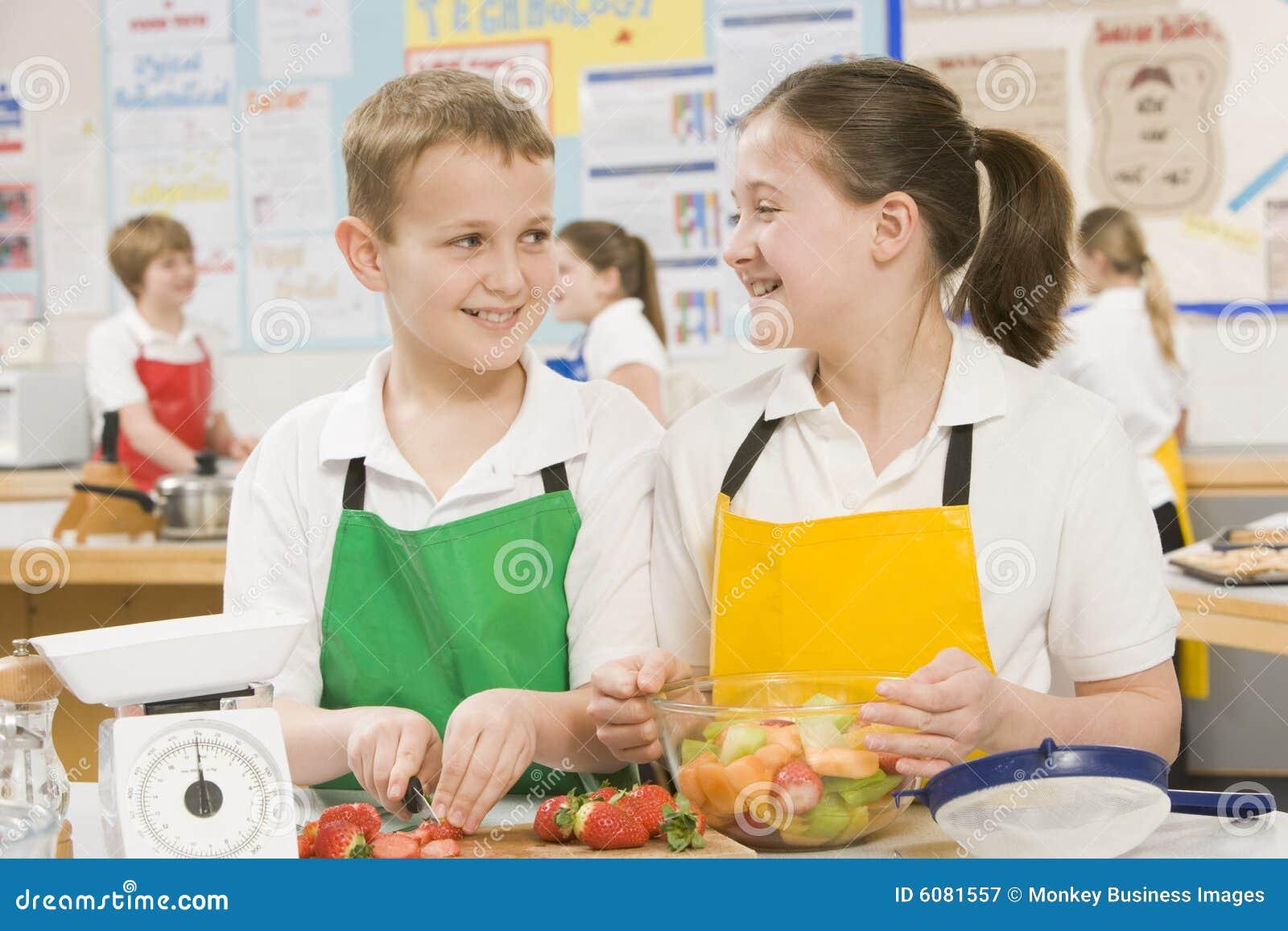 Kinderen in een kokende klasse