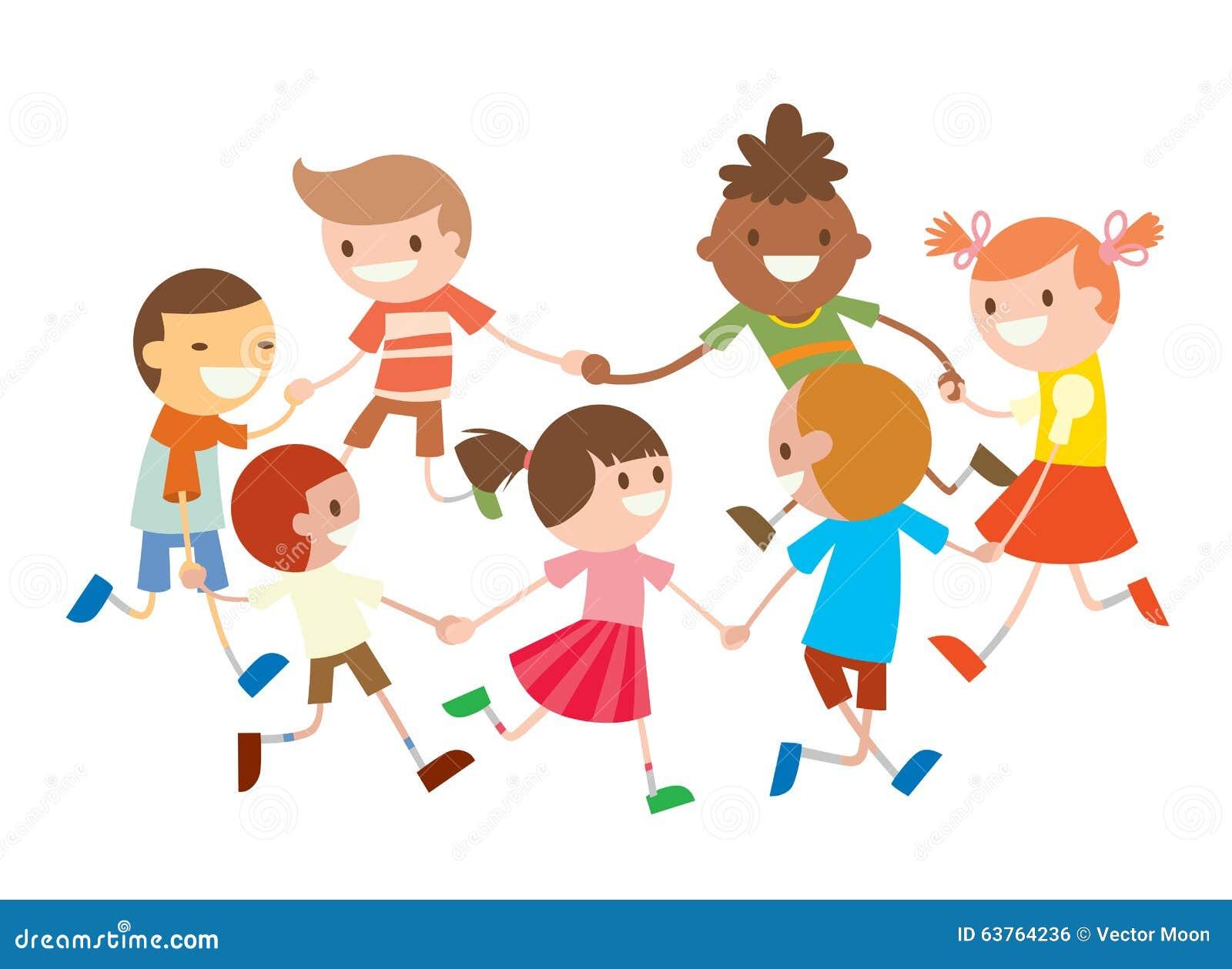 kinderen om het dansen partijdans in babyclub vector