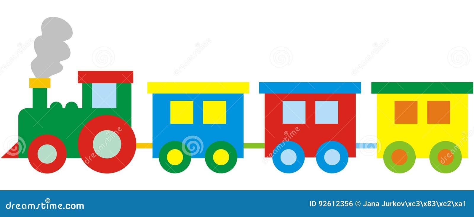 Kinderen S Trein Vectorpictogram Pushover Vector Illustratie