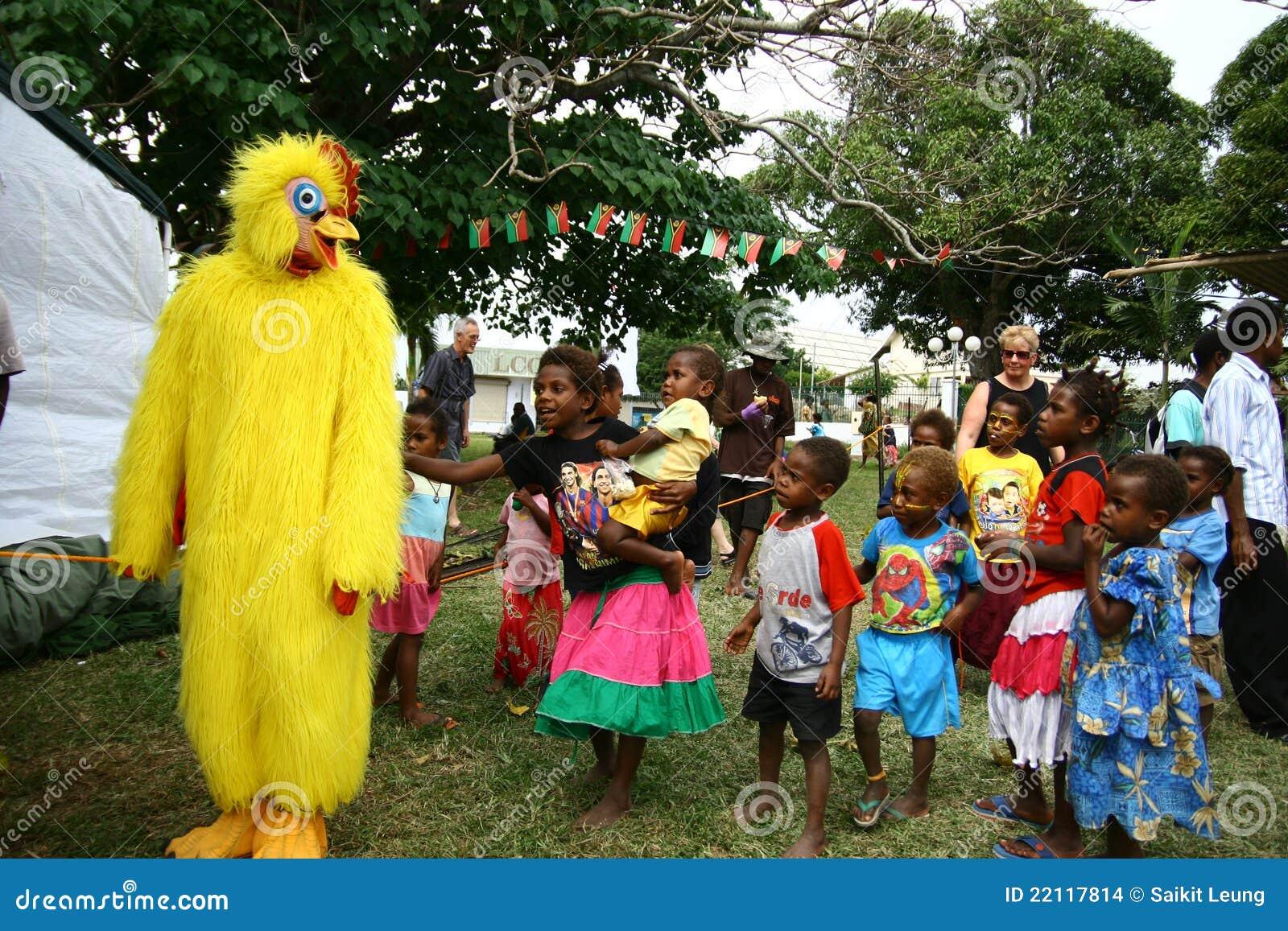 Kinderen in Vanuatu