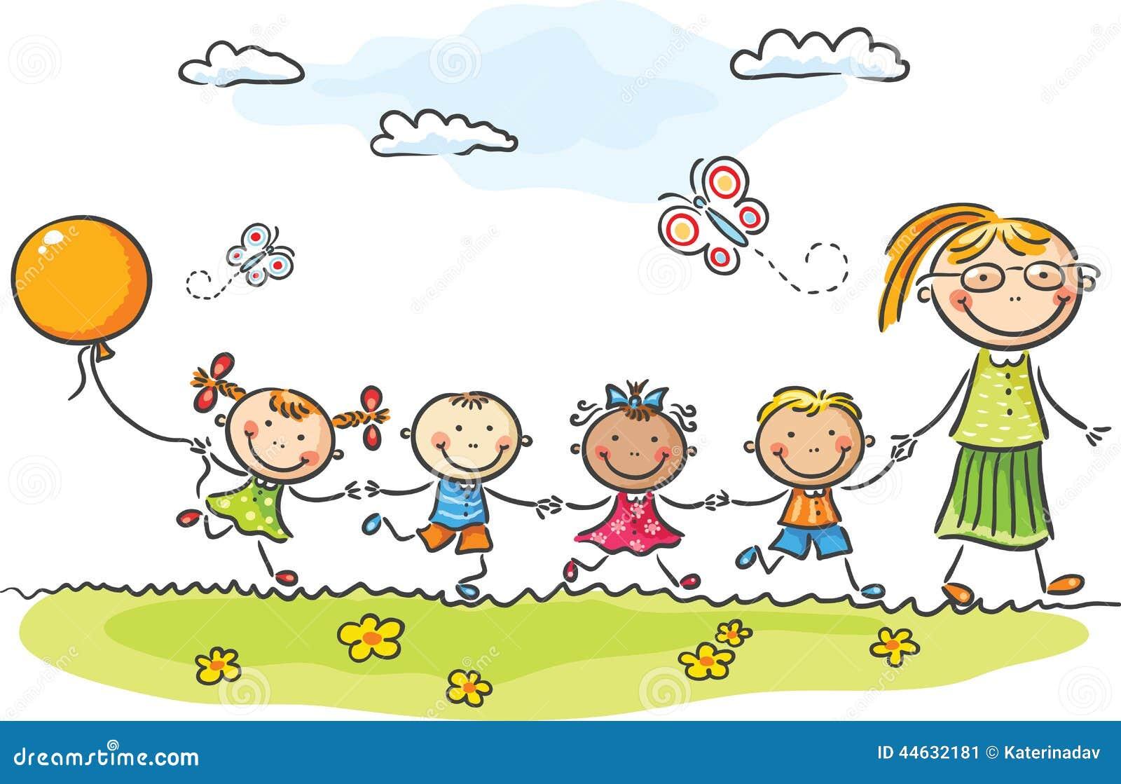 Vector Drawing Lines Kindergarten : Kindergarten ilustración del vector imagen