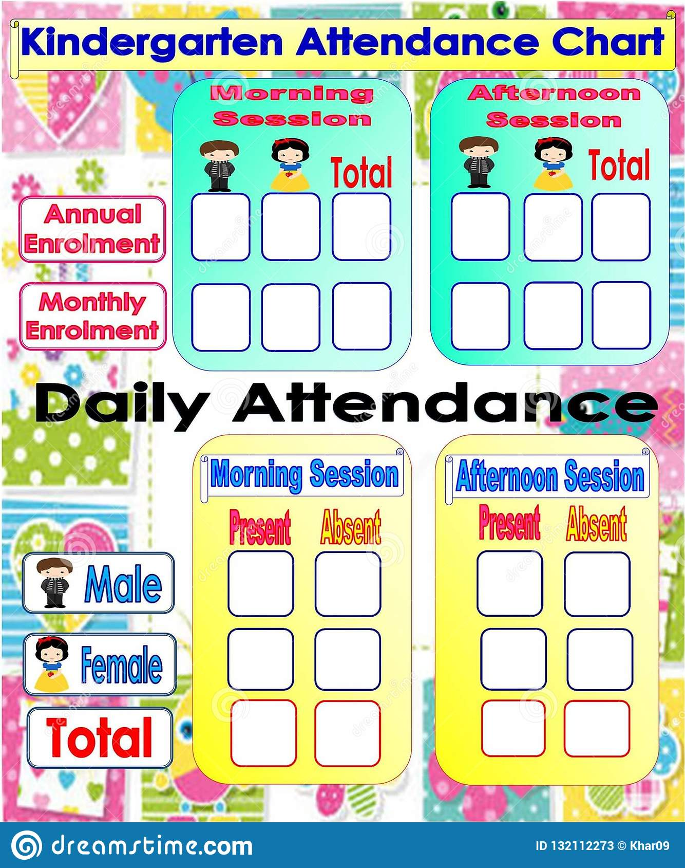 Clean image with regard to printable attendance chart