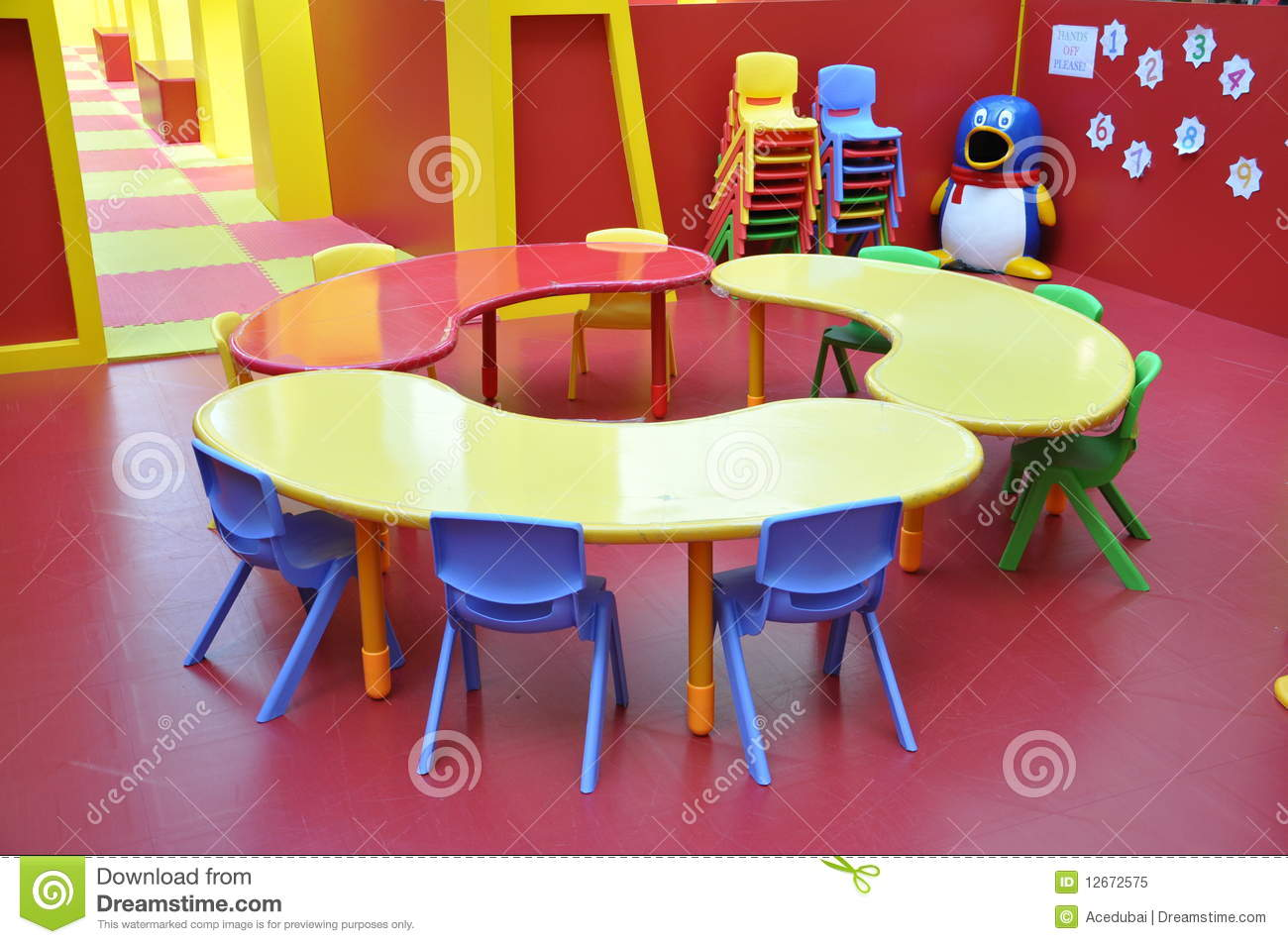 Kindergarten Childrens Play Area Table Royalty Free Stock