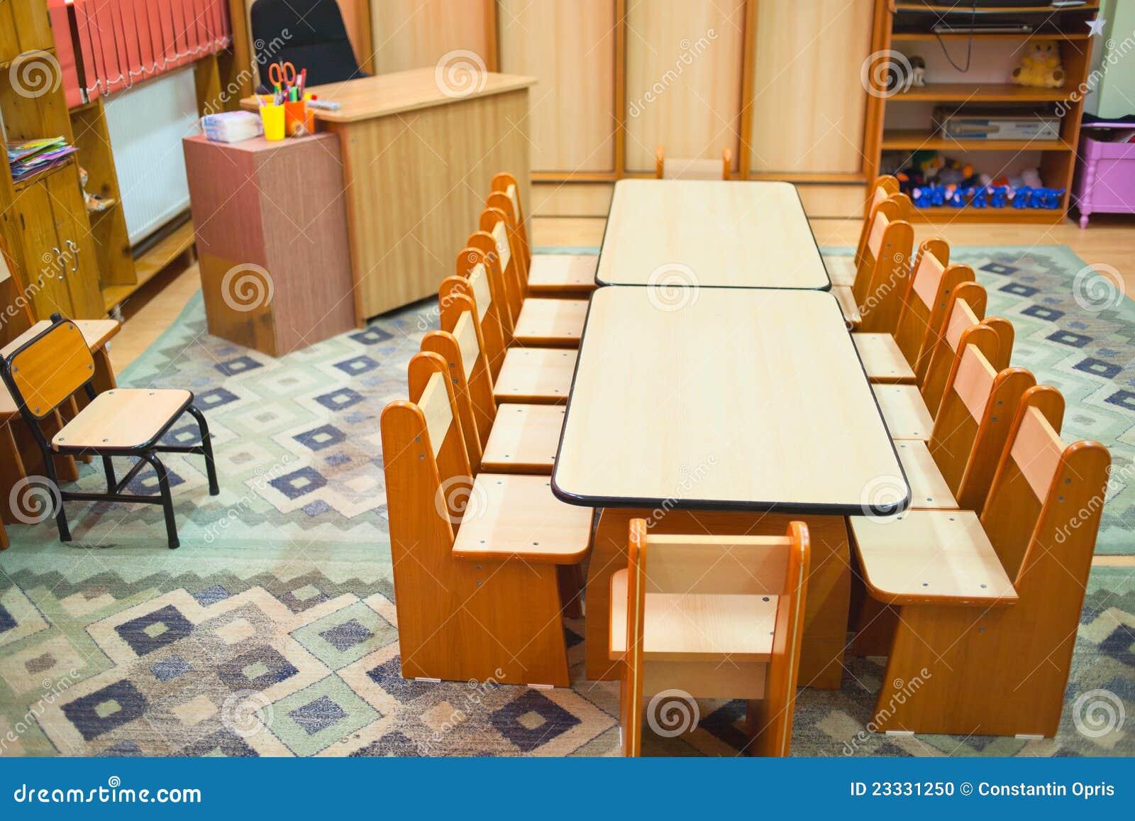 Classroom Furniture For Kindergarten ~ Kindergarten classroom stock photo image