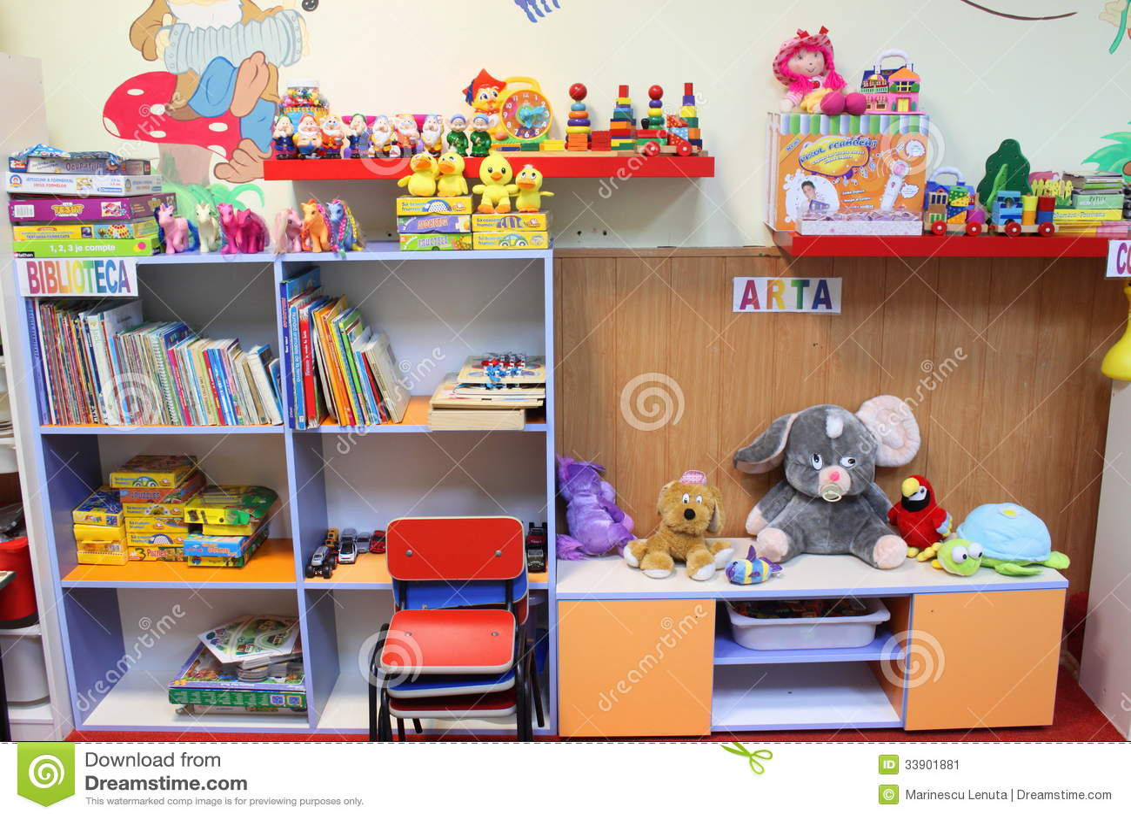 Kindergarten classroom editorial photo image of indoors for K g class decoration