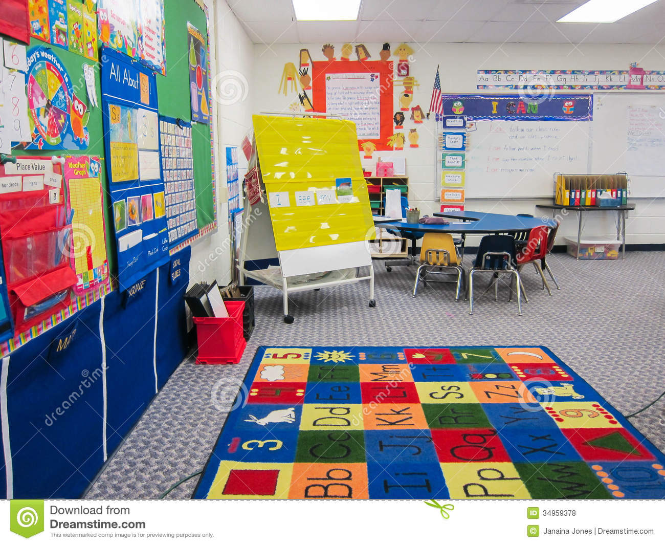 Classroom Board Ideas For Preschool ~ Kindergarten classroom stock photo image of elementary