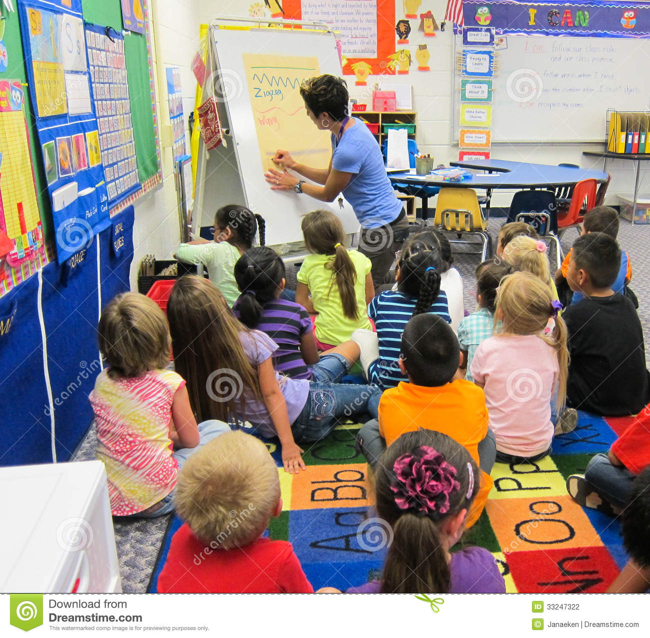 Kindergarten Classroom: Kindergarten Classroom Editorial Photography. Image Of